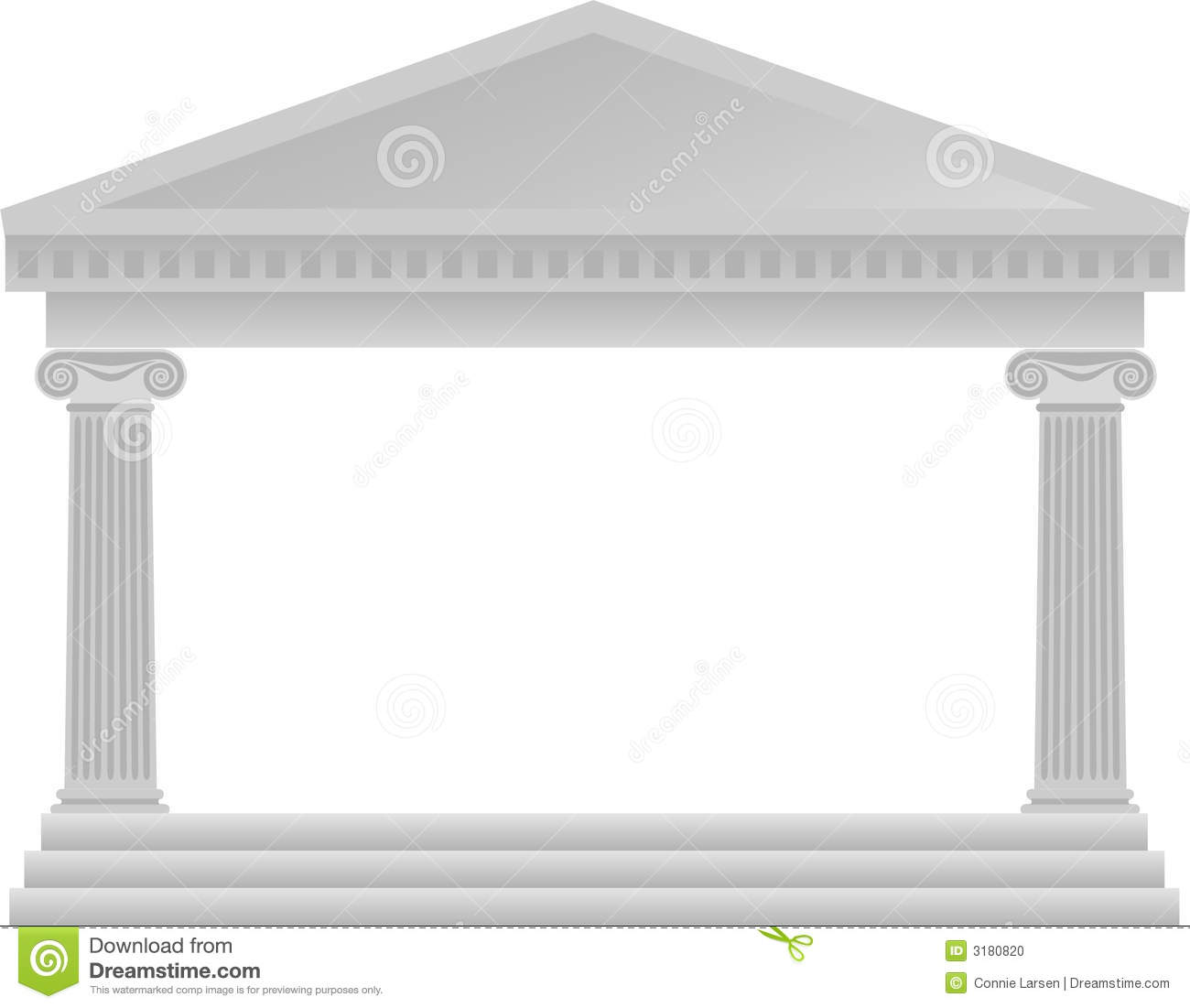 Greek column architecture eps stock illustration image for Architectural columns