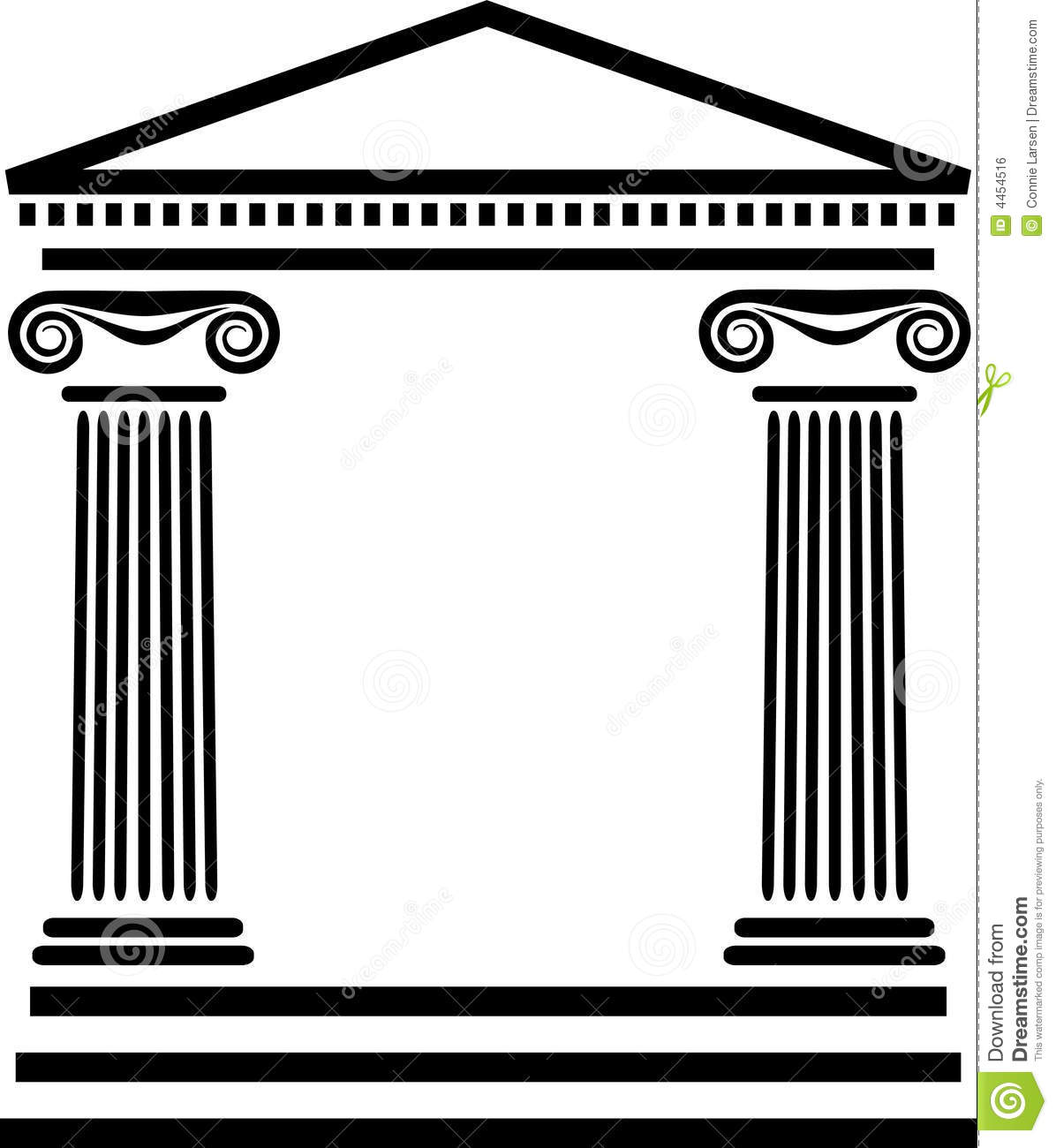 Greek Columns Architectureeps Royalty Free Stock Image Image