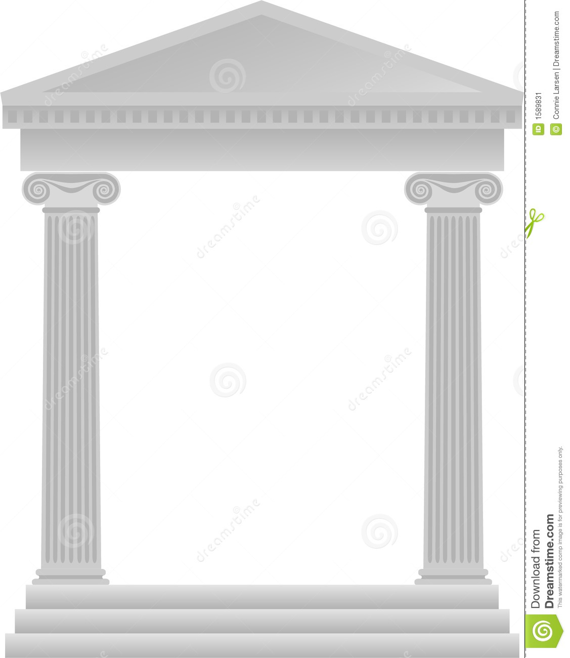 Greek Columns Background/eps Stock Image - Image: 1589831