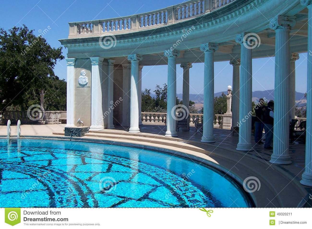 Greek Columns And Pool Editorial Photo Image 49320211