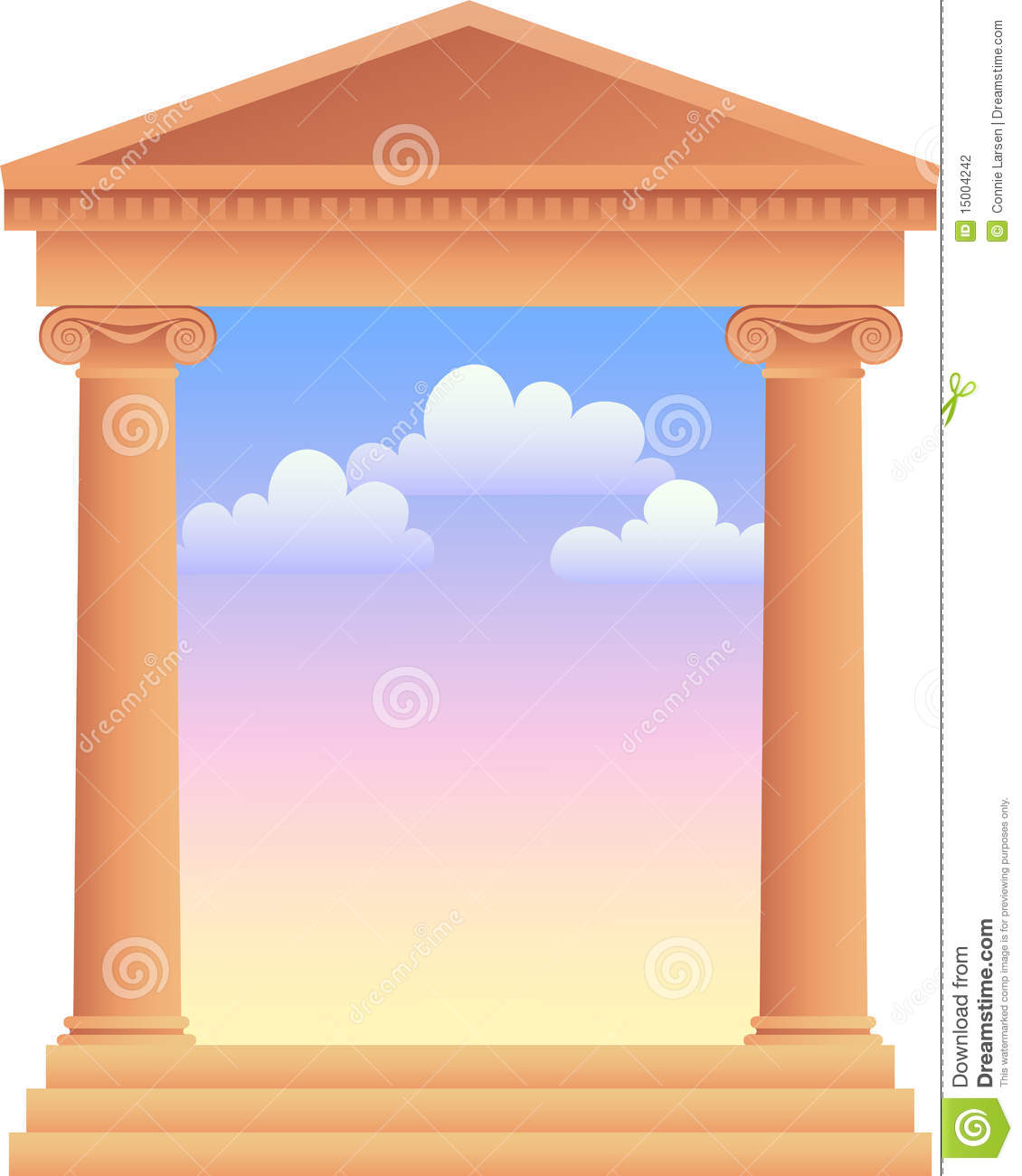 Greek Columns With Sky Background/ai Stock Photography ...