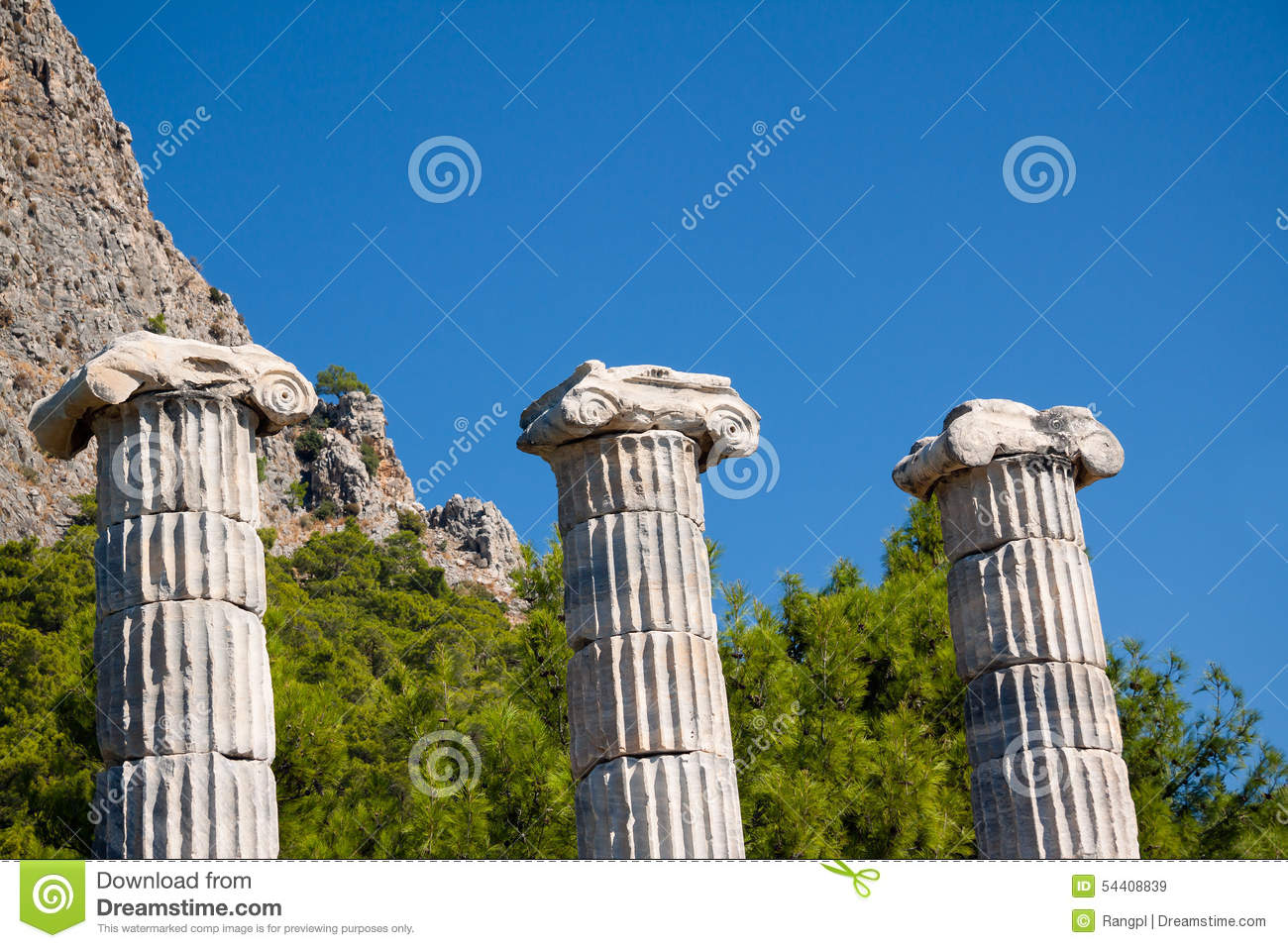 Greek Columns Stock Photo - Image: 54408839