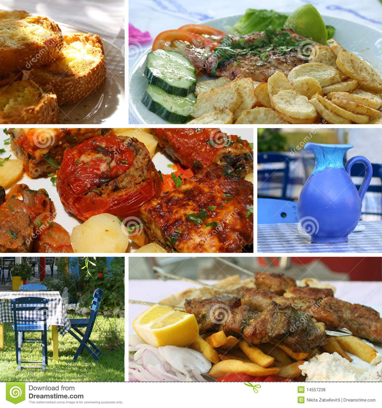 Greek cuisine collage royalty free stock photos image for About greek cuisine