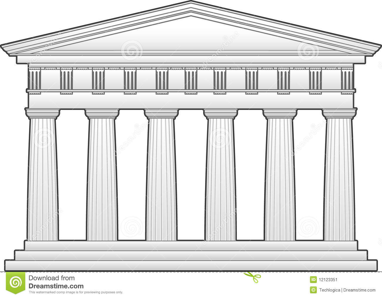 How To Draw The Parthenon For Kids