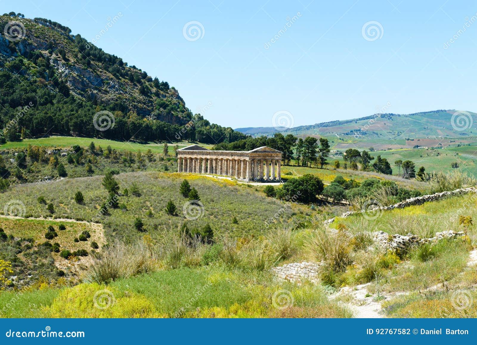 Greek Doric temple in Segesta