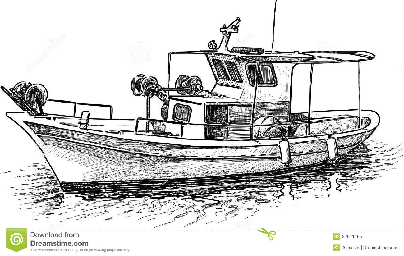 Greek Fishing Boat Royalty Free Stock Photo - Image: 37671765