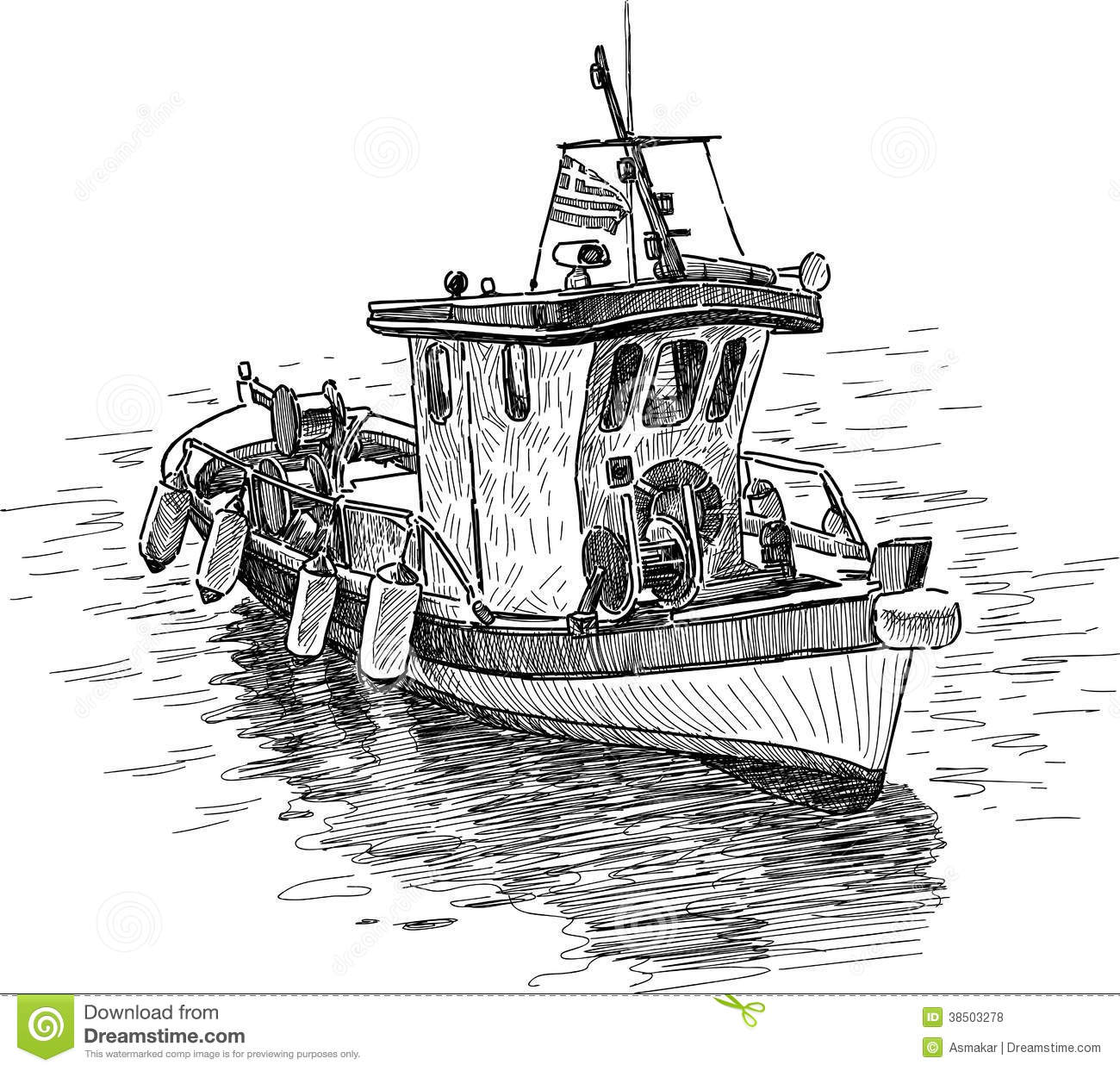 Greek fishing boat stock photo image of marine boat for How to draw a fishing boat