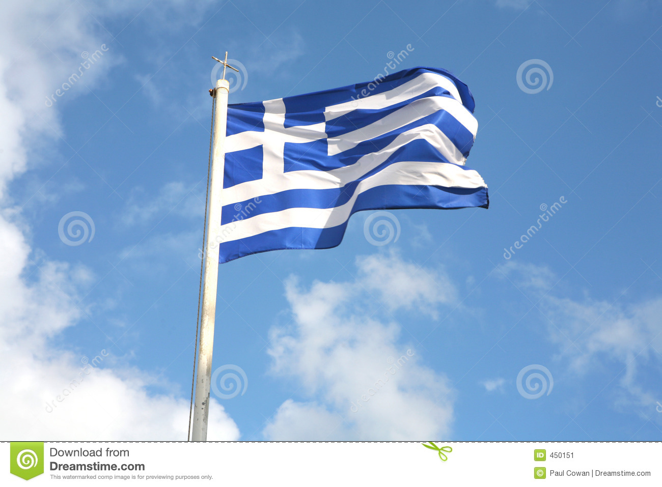 Download Greek flag stock image. Image of stripes, pride, pole, flagpole - 450151