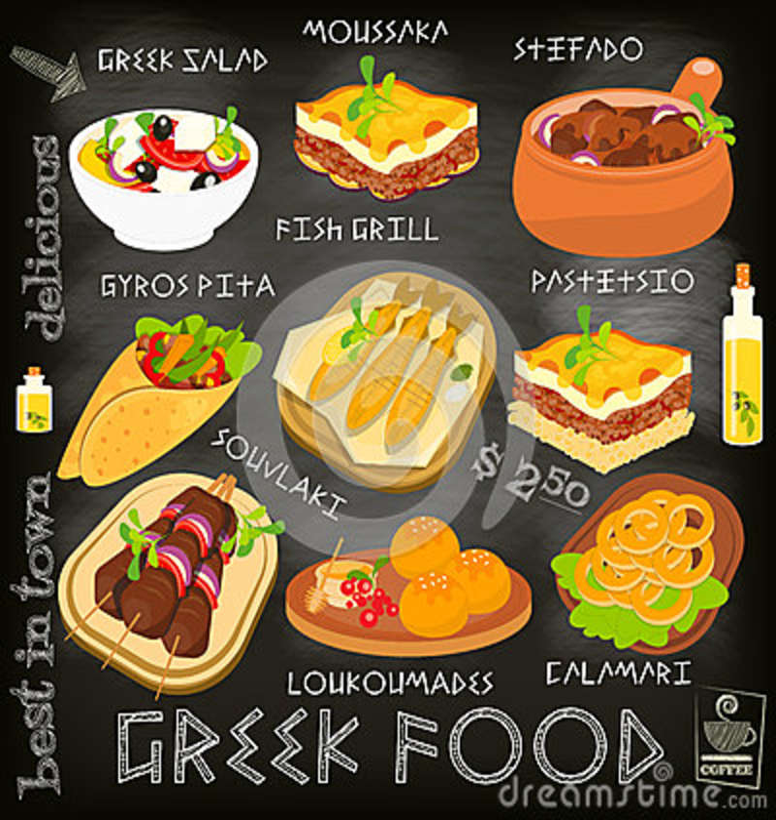 Greek food menu stock illustration illustration of honey for Ancient greek cuisine