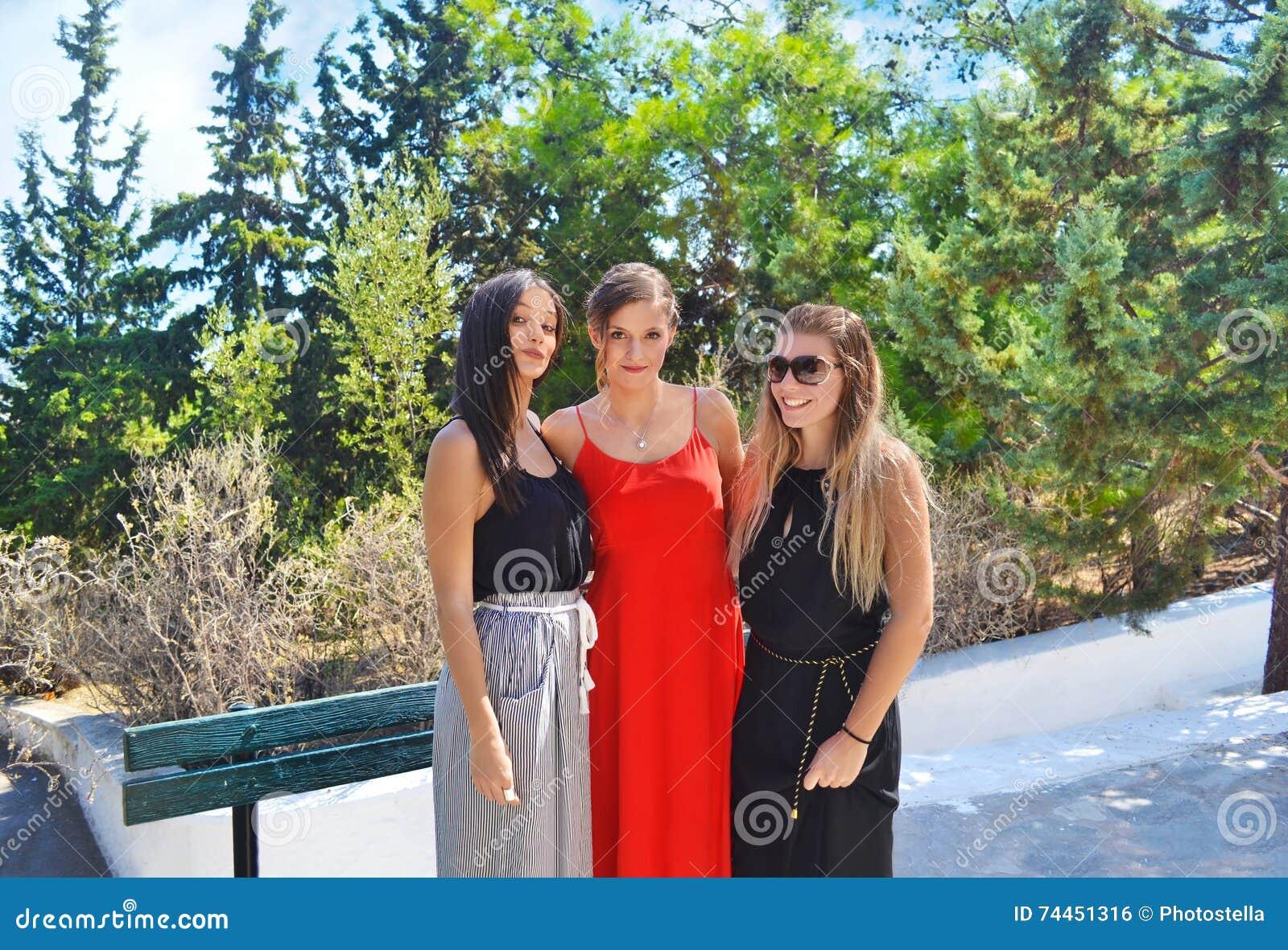 Greek girls at an Orthodox christening