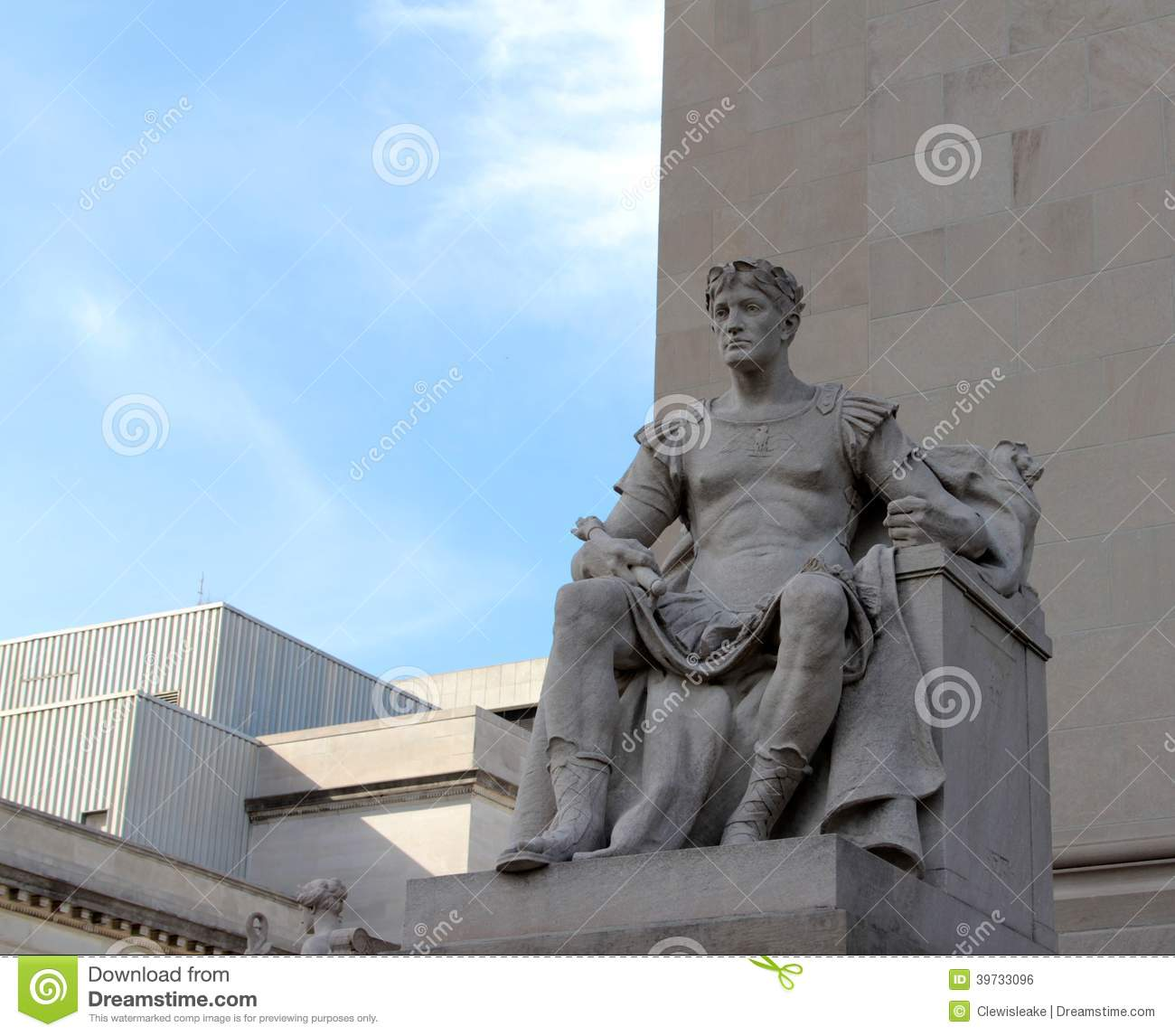 Greek God Larger Than Life Statue Stock Photo Image