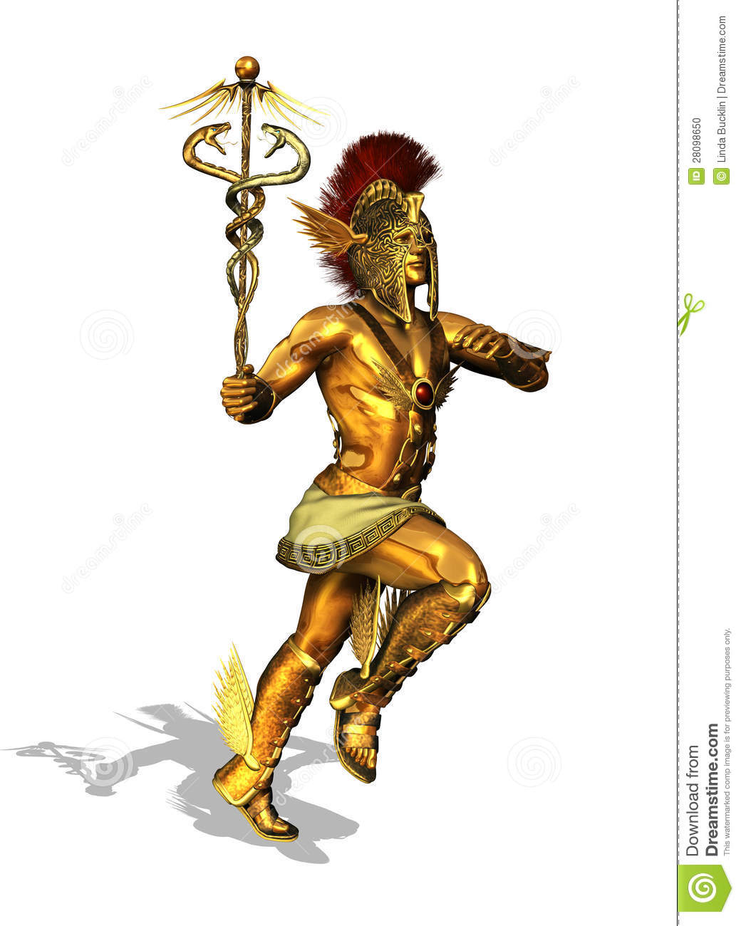 Greek God Mercury