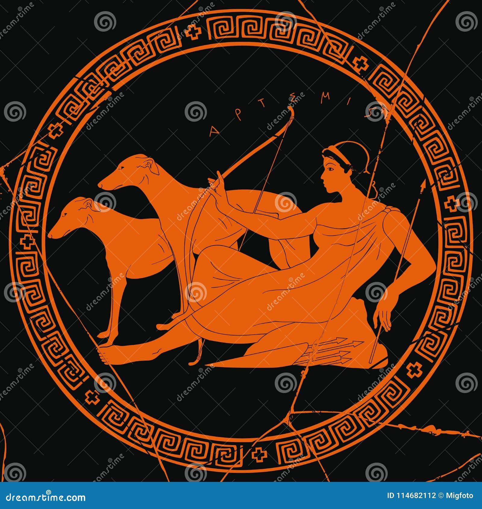 Greek Goddess Artemis Stock Vector Illustration Of Athens 114682112