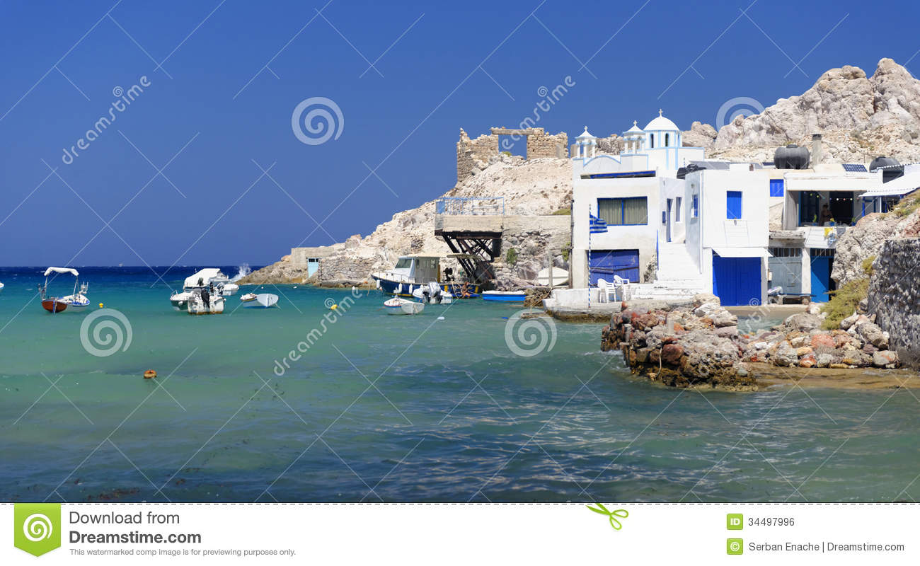 greek homes by the sea stock photo image of greek. Black Bedroom Furniture Sets. Home Design Ideas