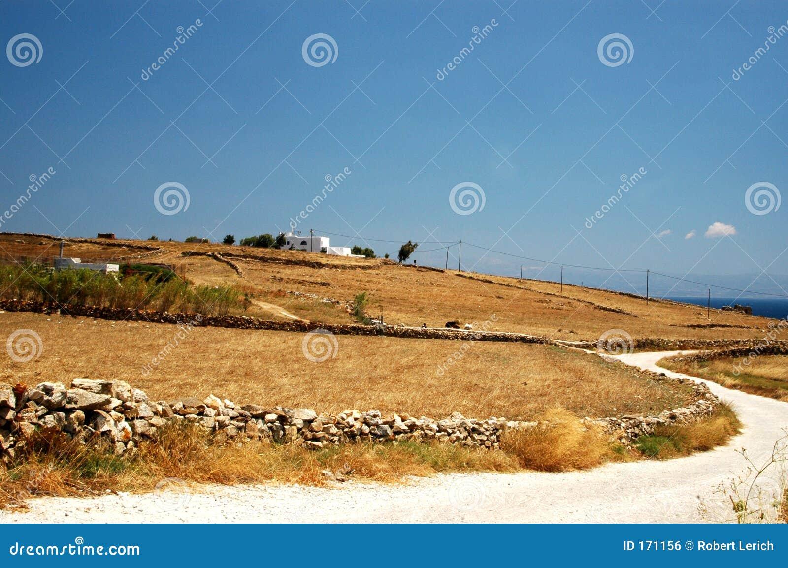 Greek island landscape