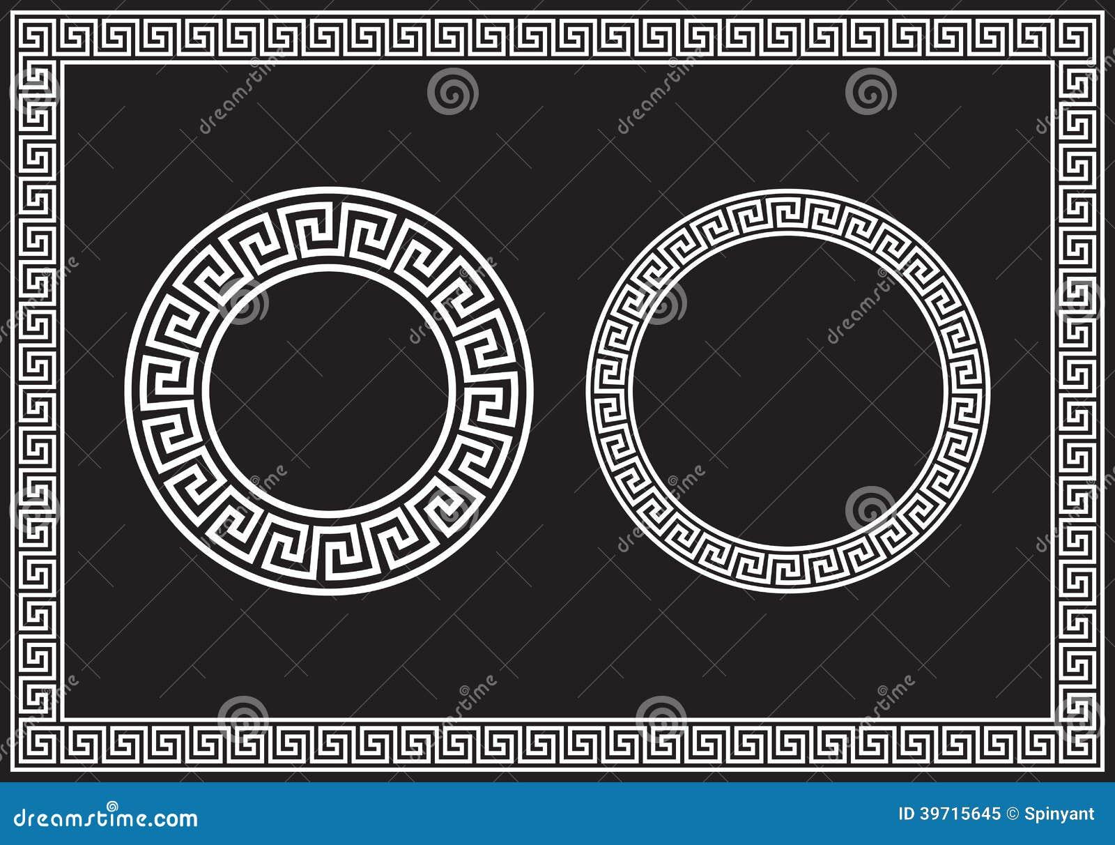 Greek Key Stock Vector Illustration Of Meander Symbol 39715645