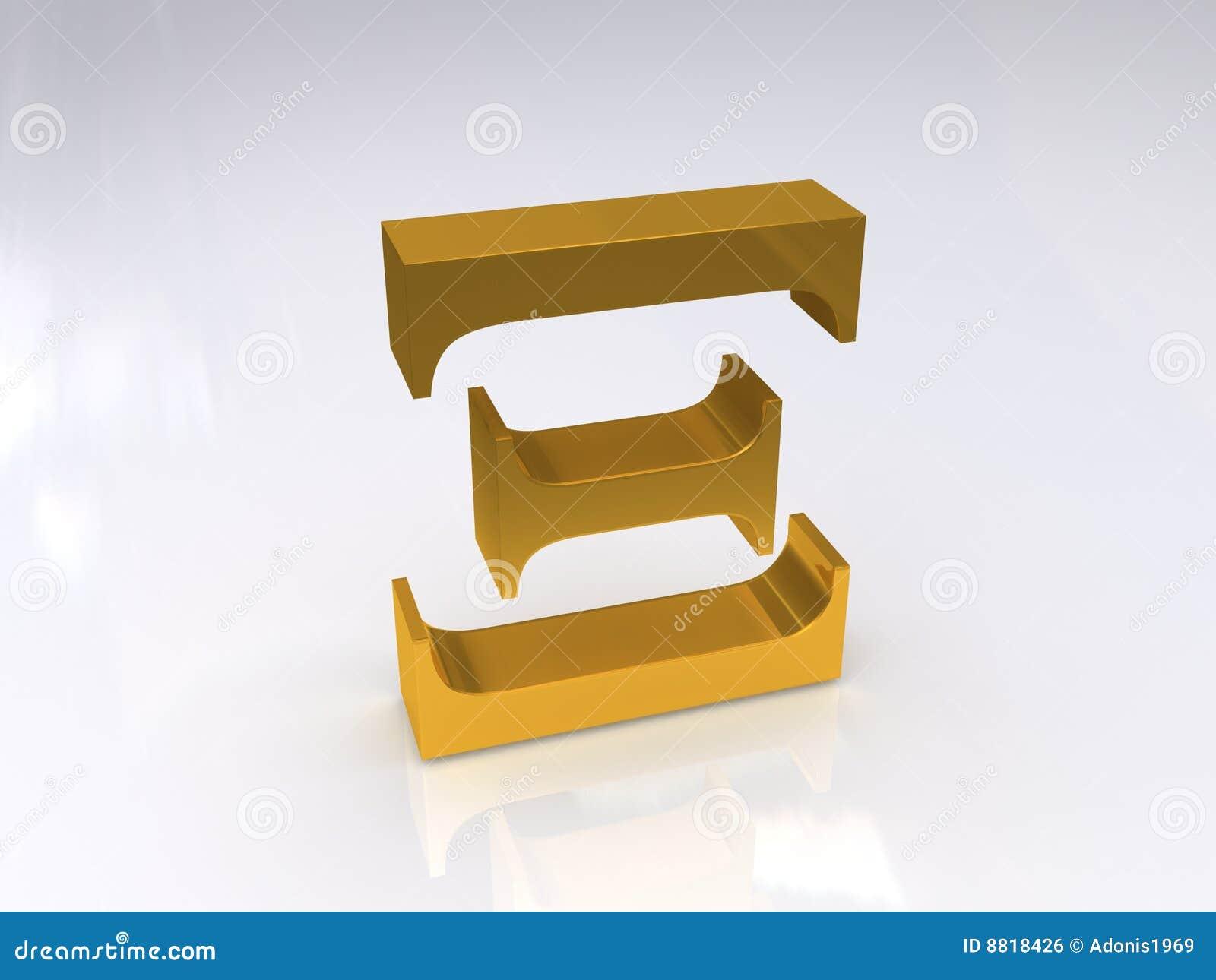 Greek Letter Xi stock illustration  Illustration of alphabet