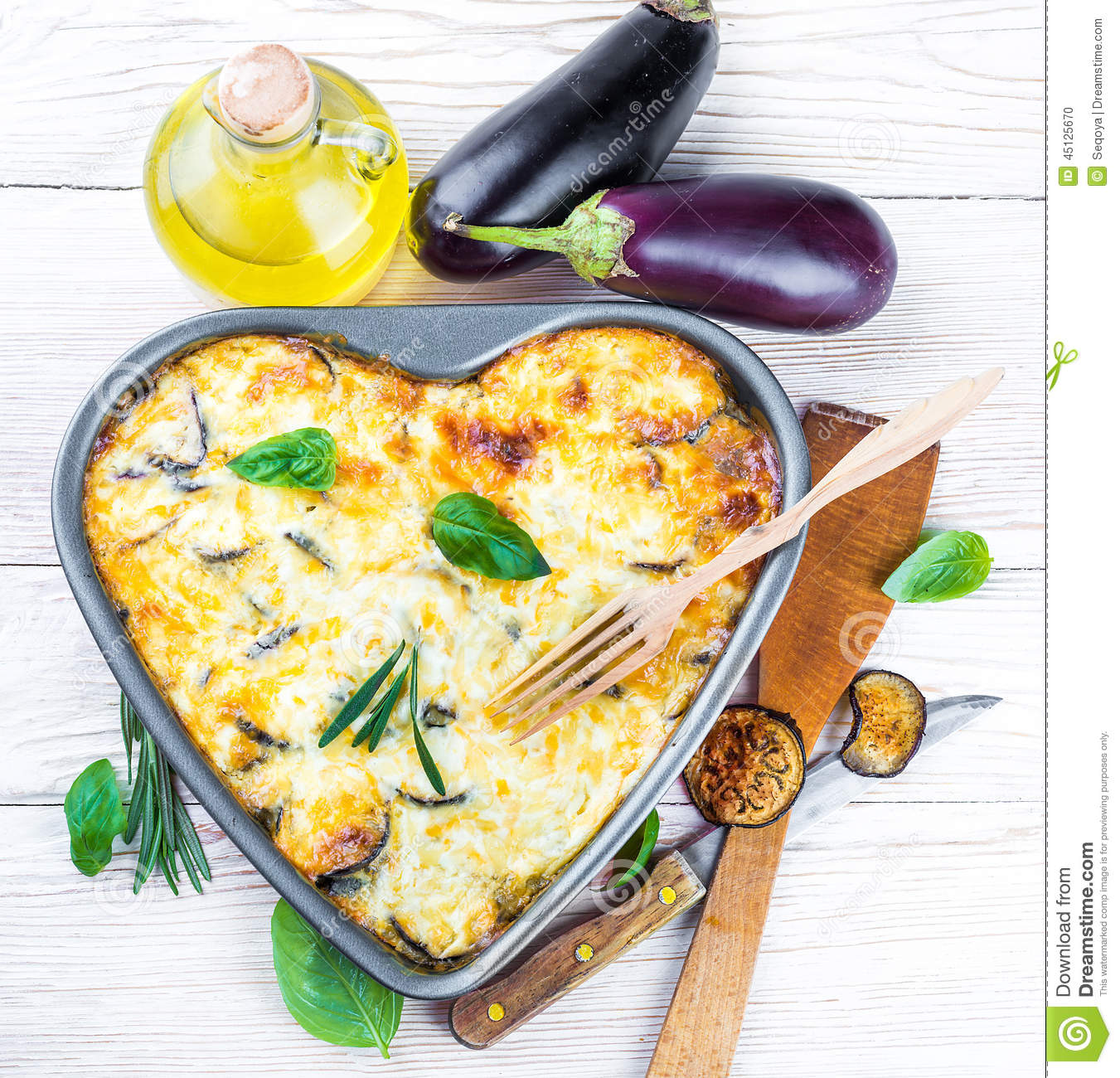 Greek Moussaka of eggplant