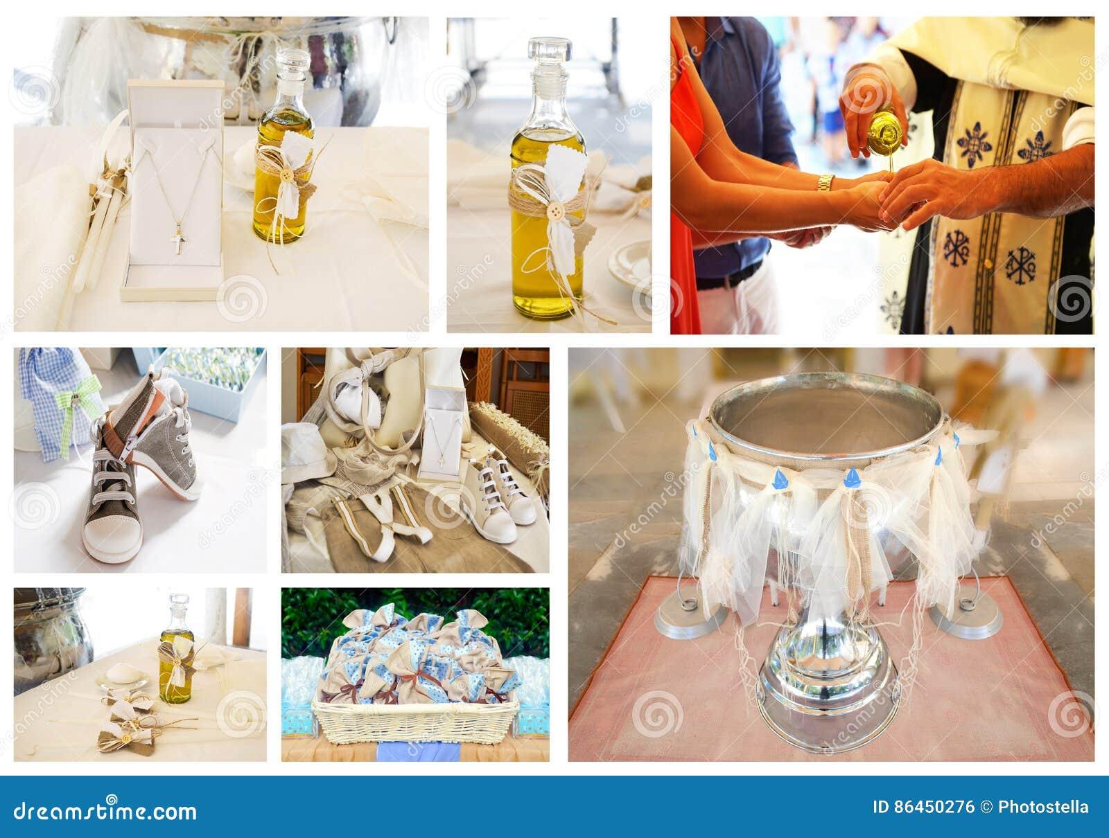 Greek Orthodox christening collage