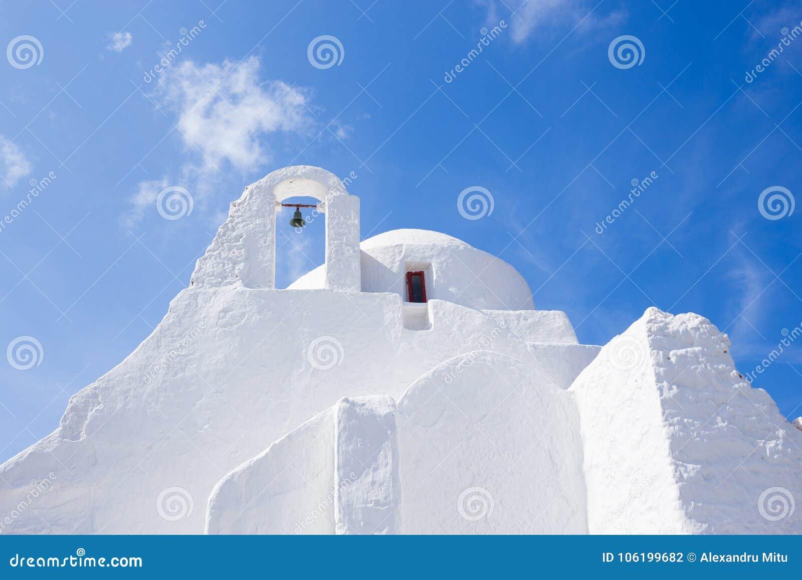 Greek Orthodox church in Mykonos.