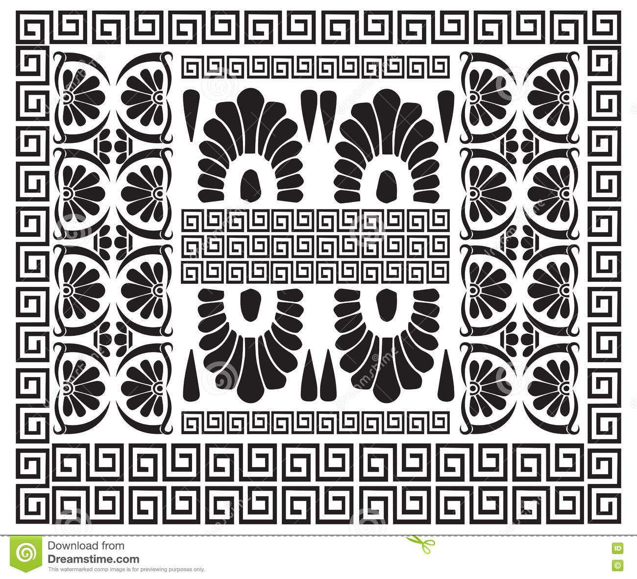 Greek pattern ancient hellenic decor stock vector image for Ancient greek decoration