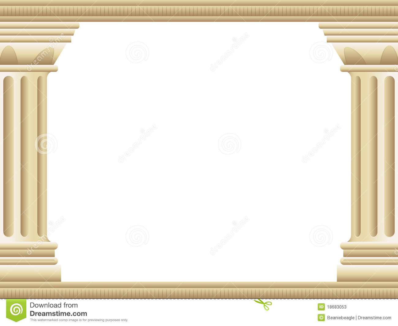 background border illustration of two ancient Greek style ...