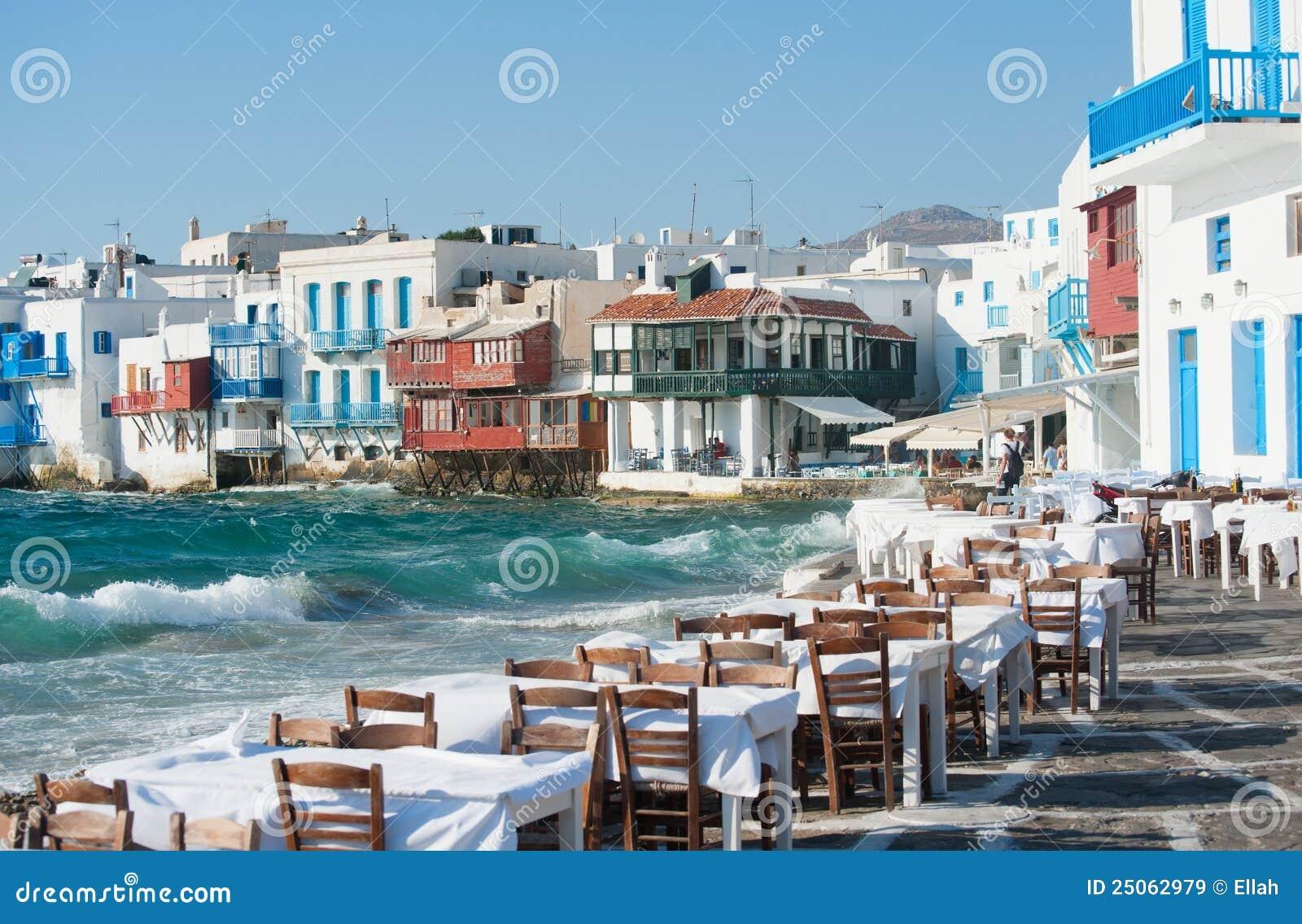 Greek restaurant by the beach