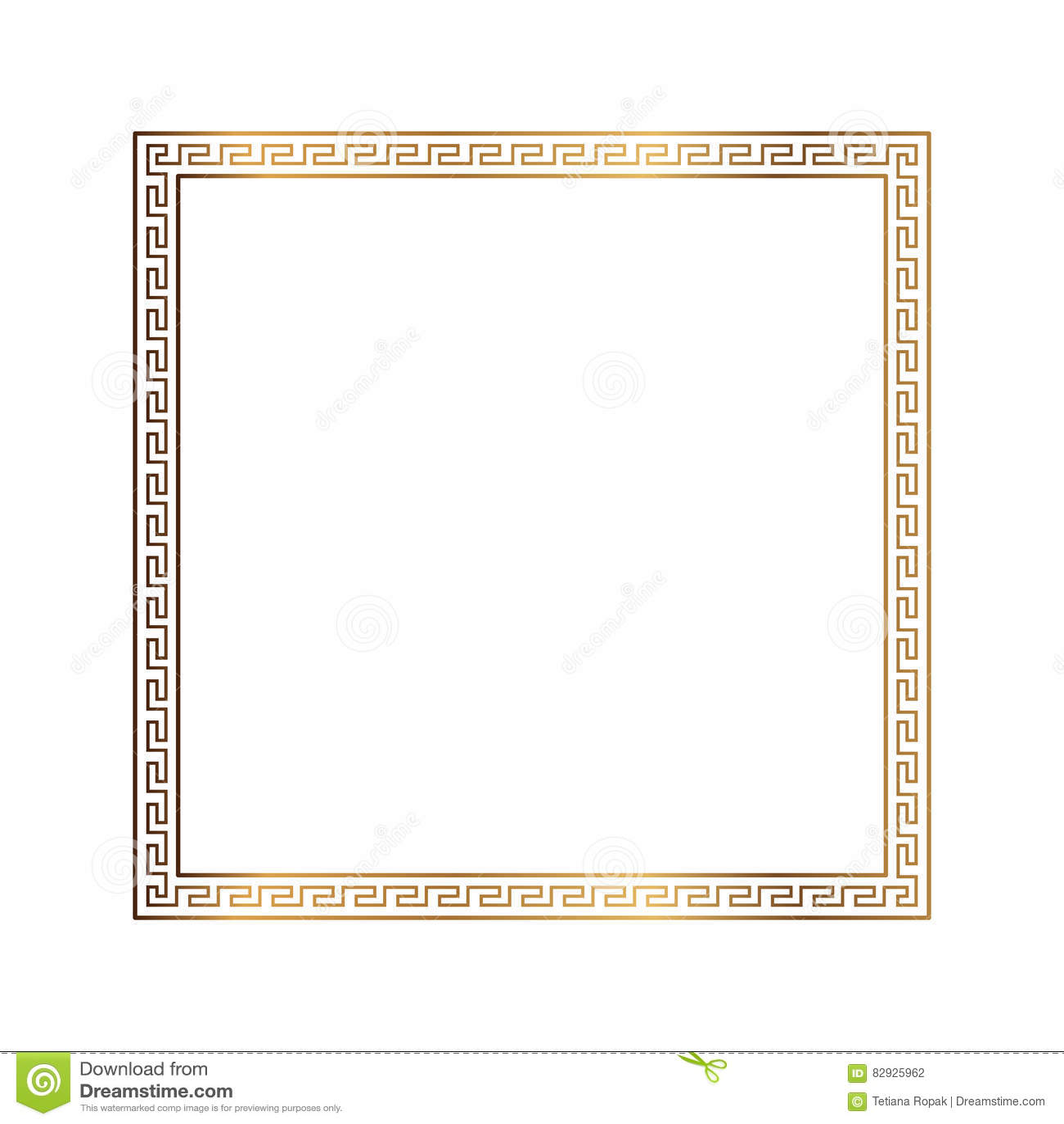 Greek style ornamental decorative frame pattern isolated. Greek Ornament. Vector antique frame pack. Decoration element patterns