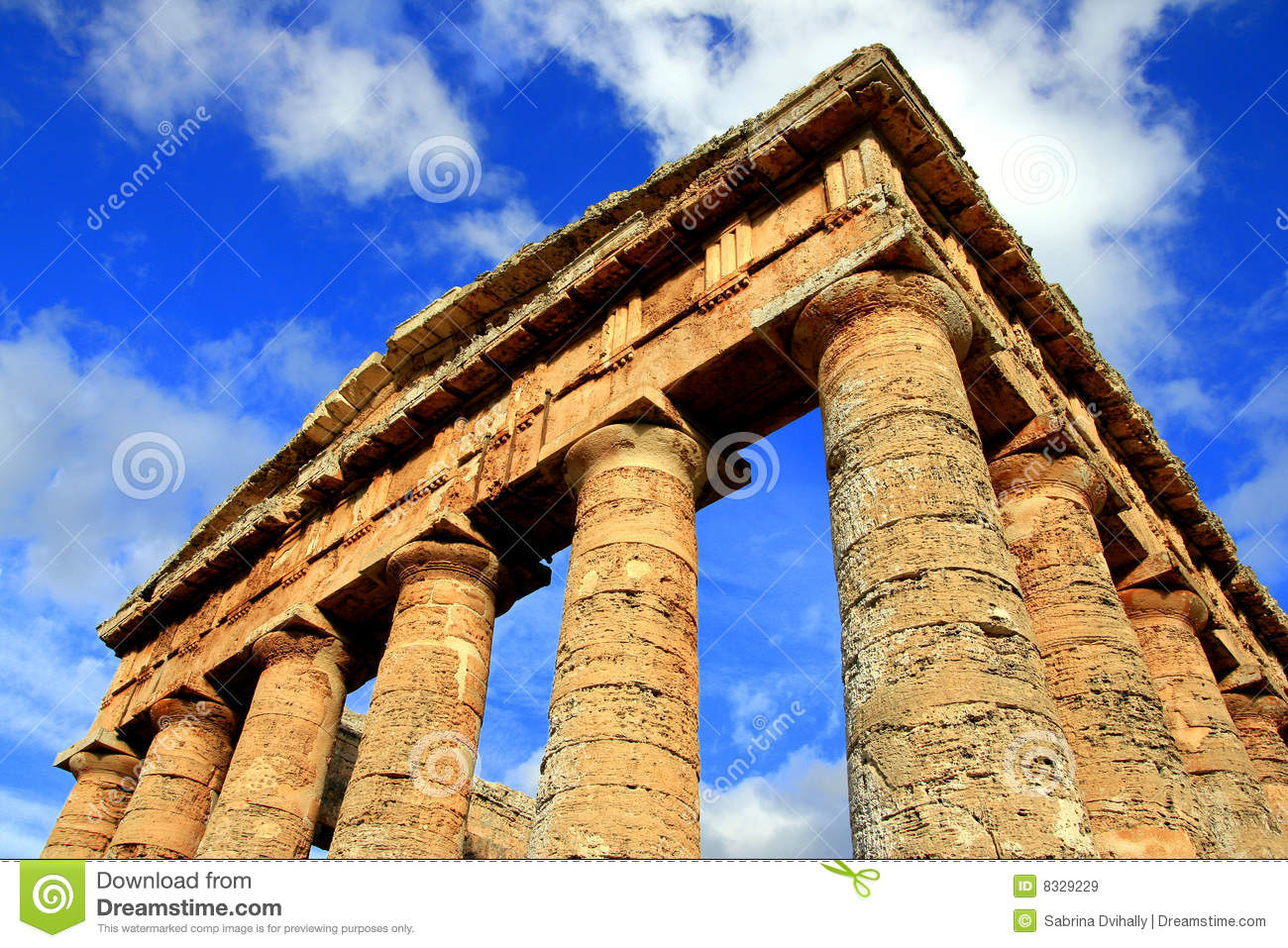 Greek Temple Ancient Architecture Ruins Royalty Free Stock Images