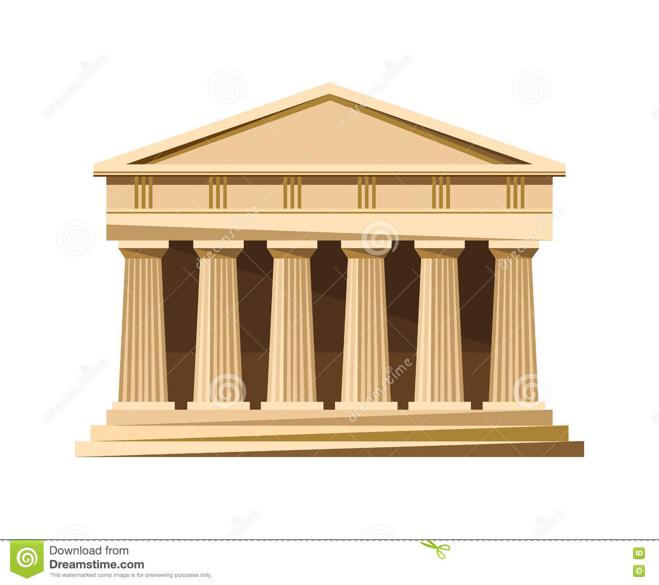Greek Temple Icon Isolated On White Background Stock ...