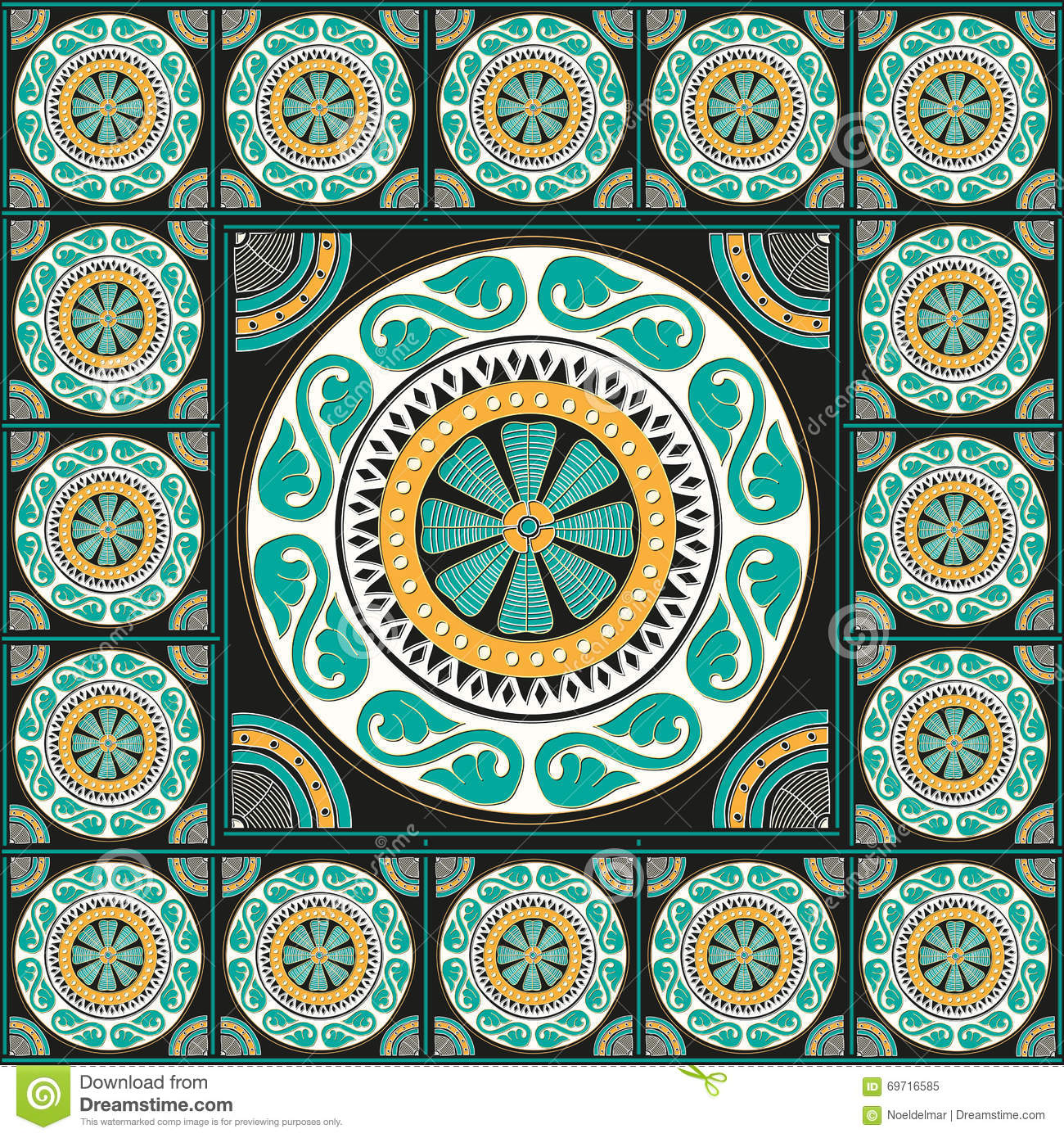 Greek traditional mosaic home decor stock vector image for Mosaic home decor