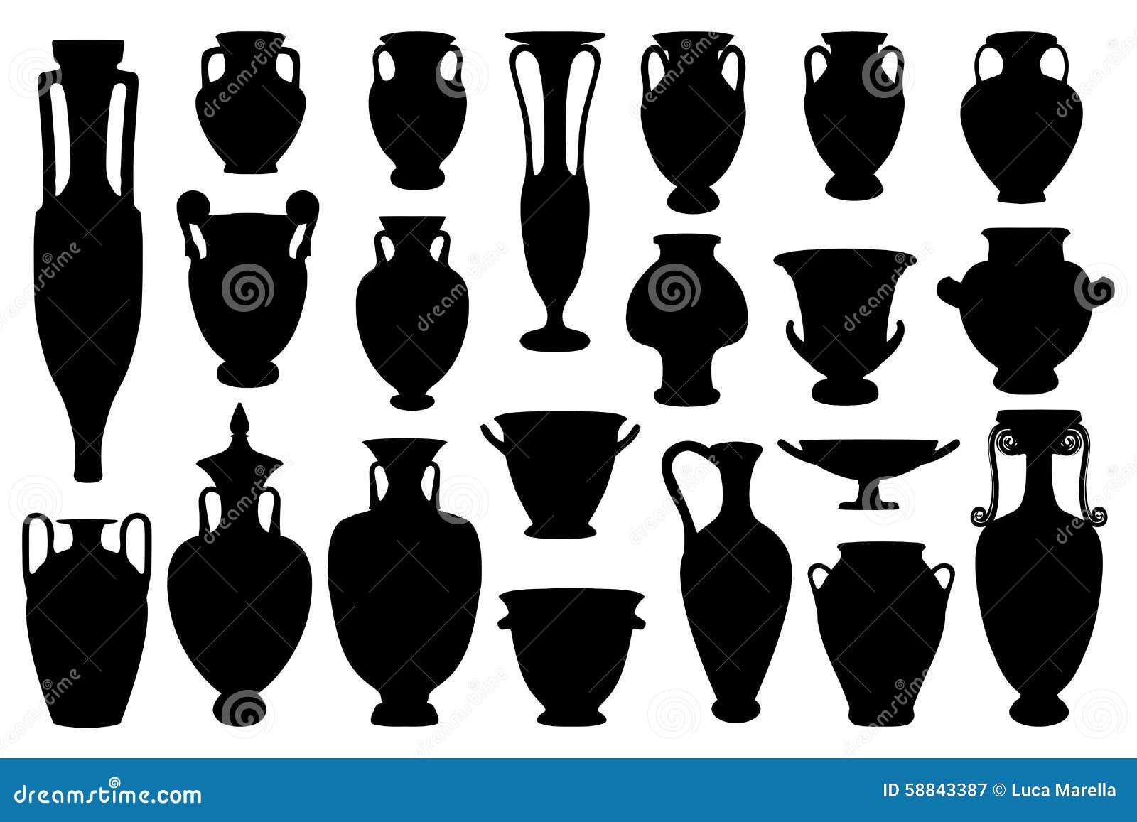 Greek vases stock vector illustration of ewer pitcher 58843387 greek vases reviewsmspy