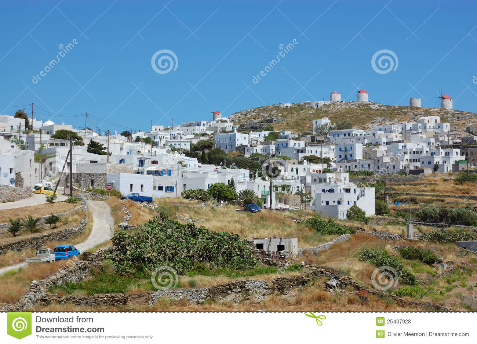 Greek village, amorgos