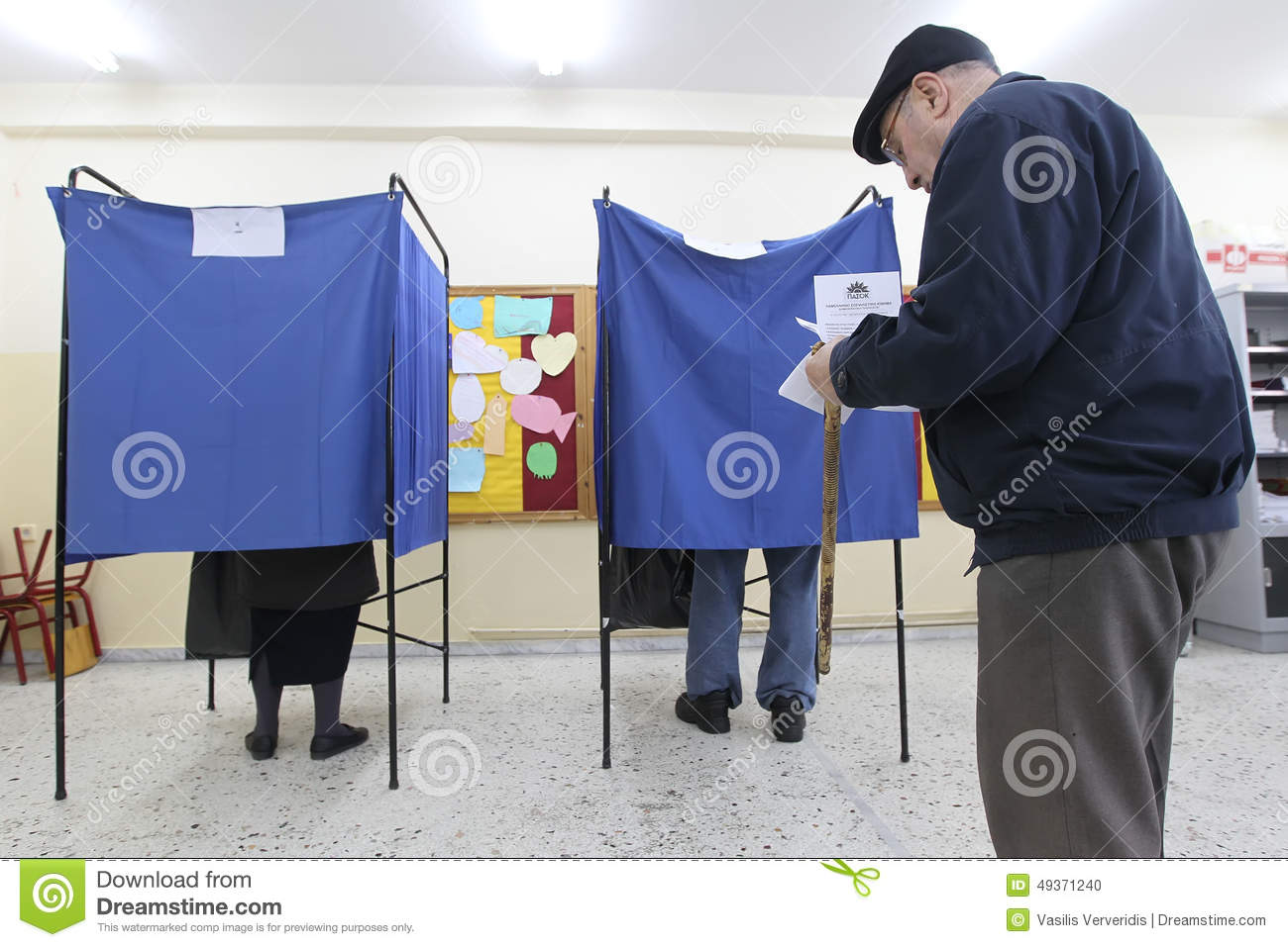Greek Voters Head To The Polls For The General Election ...