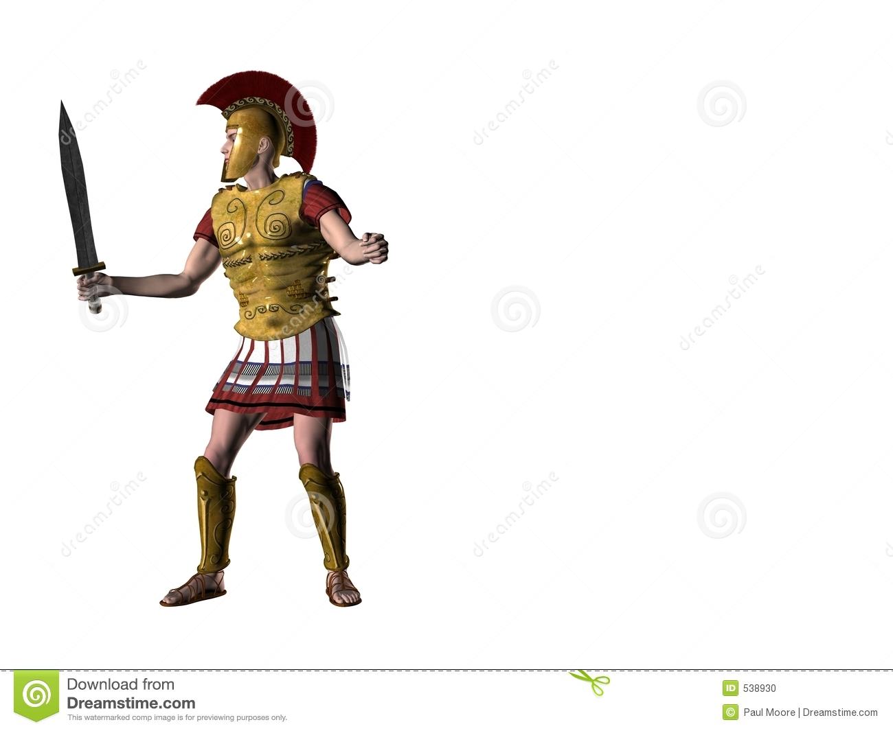 Greek Warrior 1 Stock Photo - Image: 538930