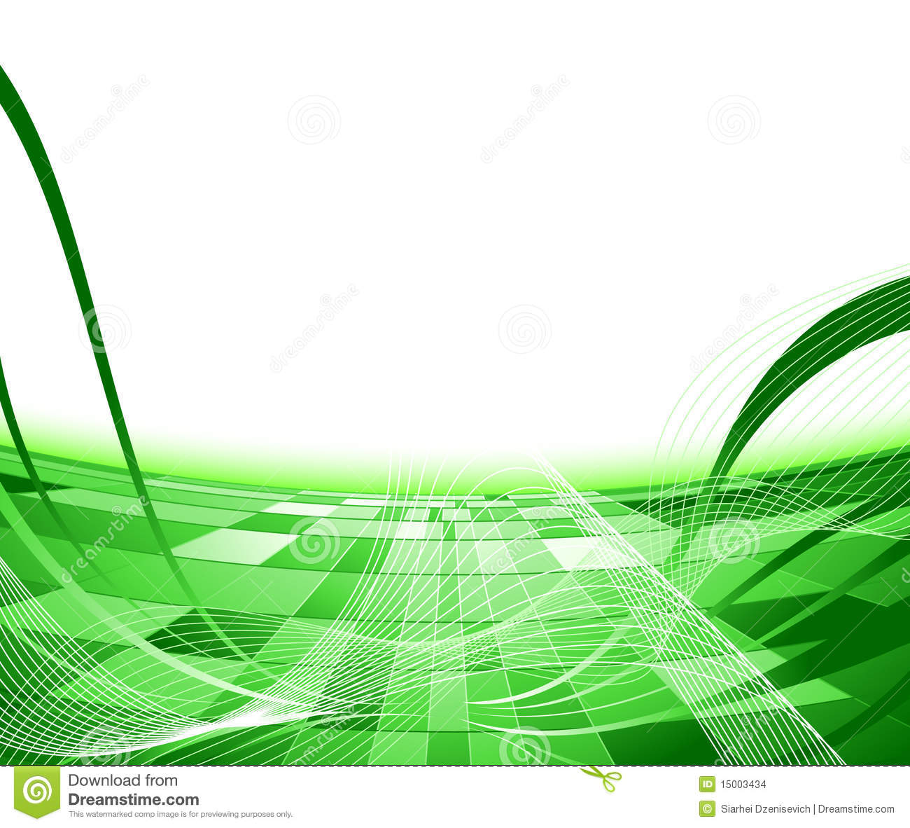 Green Abstract Advertisement Background