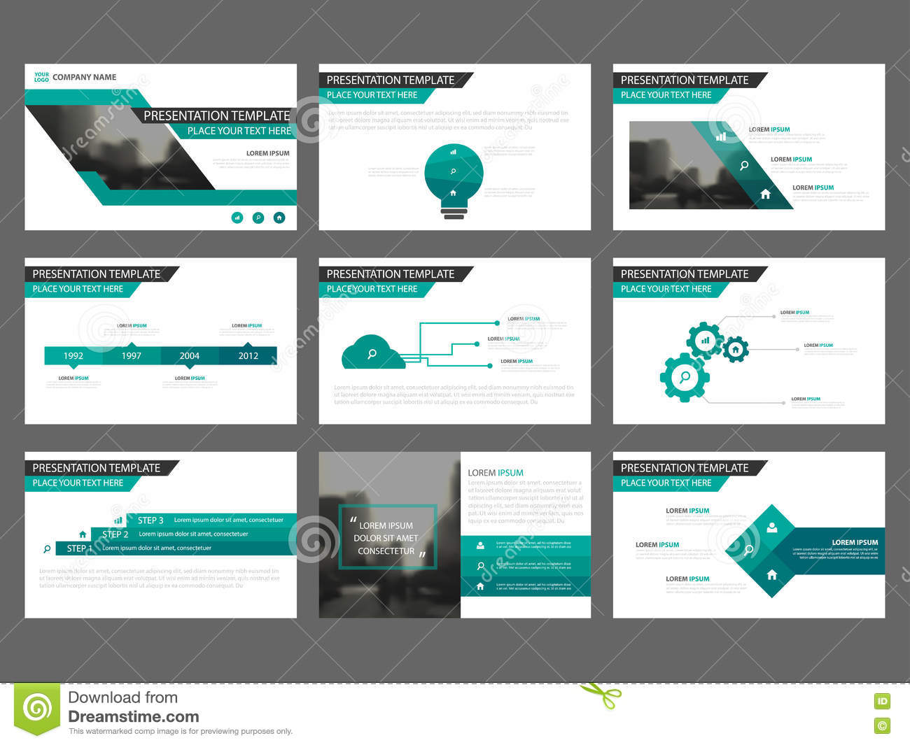 Green Abstract Business Brochure Leaflet Flyer Annual Report ...