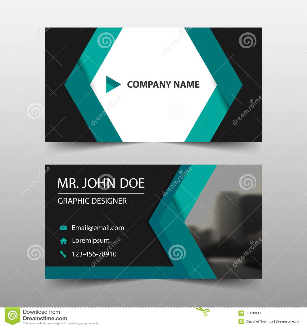Green abstract corporate business card name card template green abstract corporate business card name card template horizontal simple clean layout design template business card royalty free vector reheart Image collections