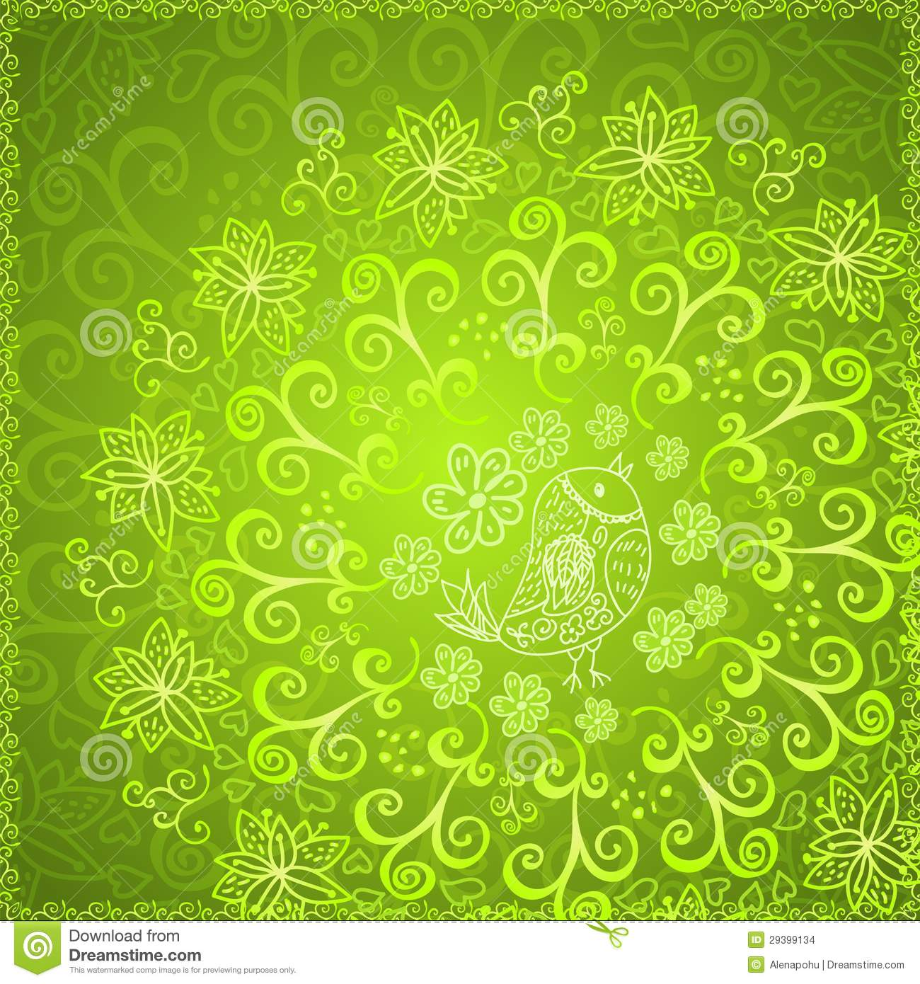 green abstract floral ornament background illustration 29399134 megapixl megapixl