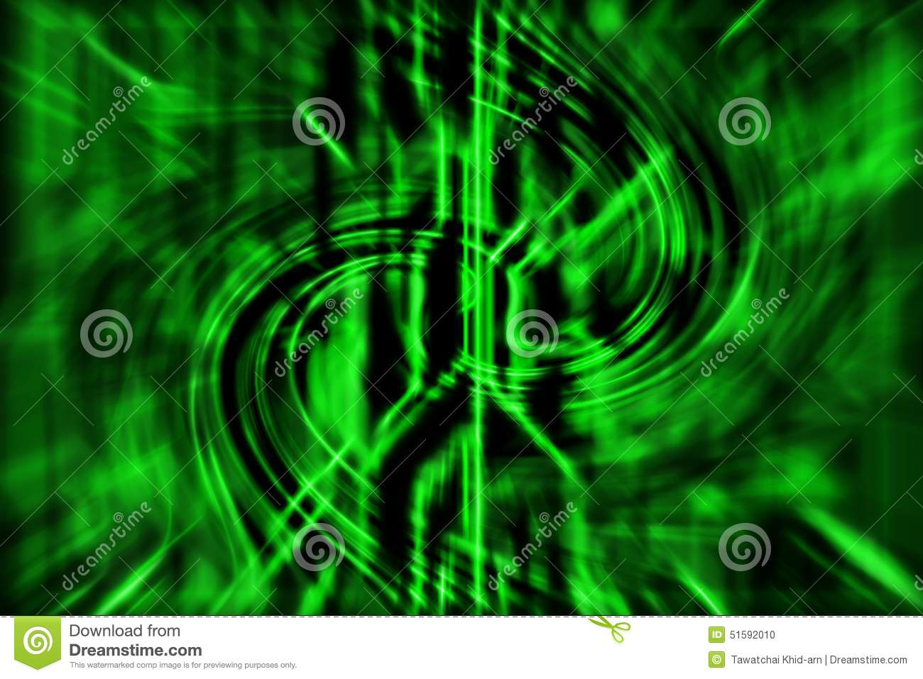 Green abstract technology background with curve lines