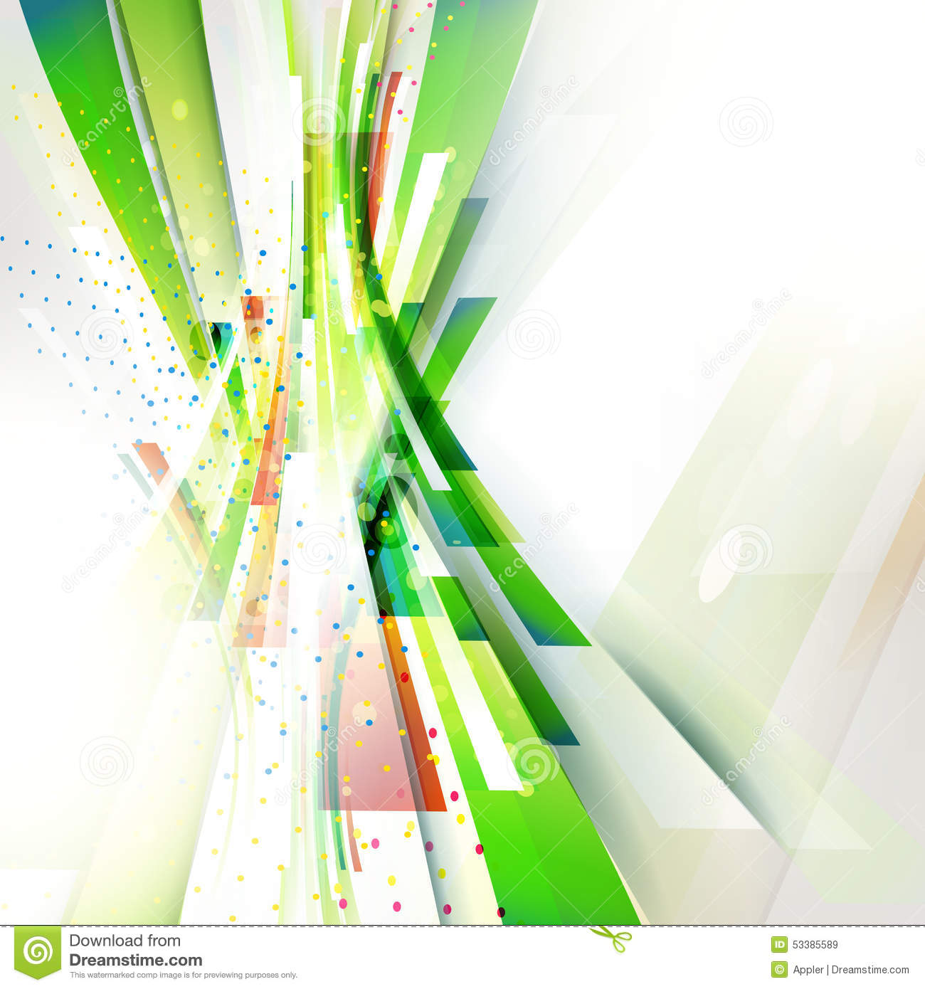 Green abstract vertical wave geometric background for technology ...