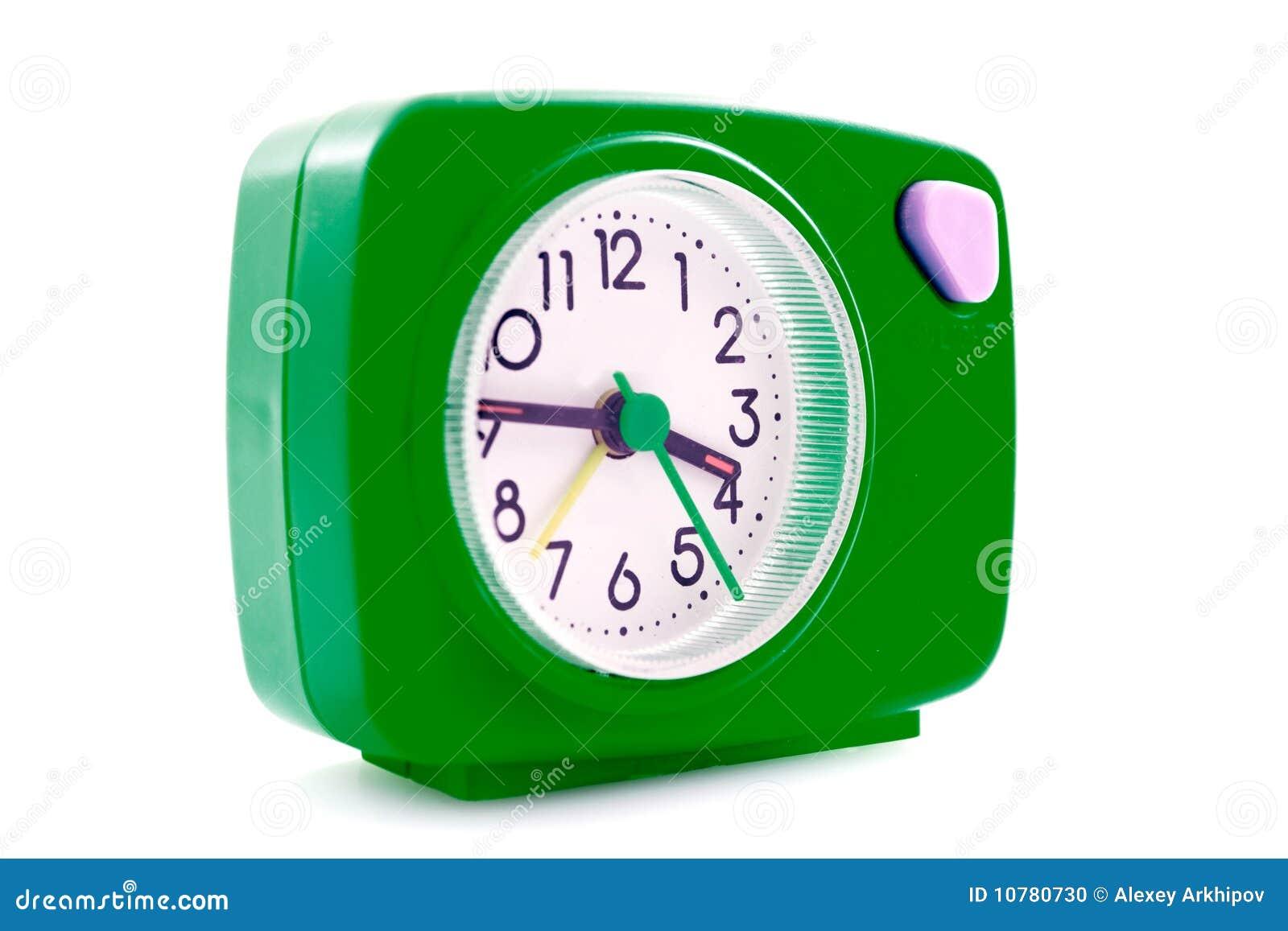 Green Alarm Clock Stock Photo Image 10780730