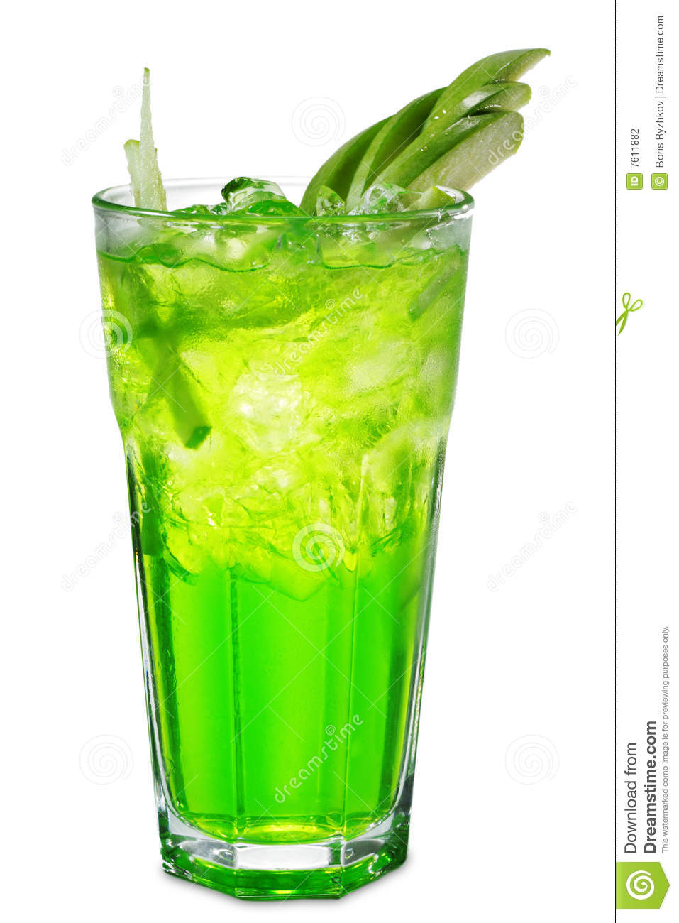 Green alcoholic cocktail stock photography image 7611882 for Green apple mixed drinks