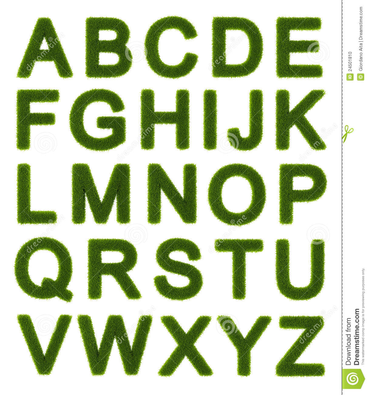 English Alphabet Letters Capital Green alphabet - capital