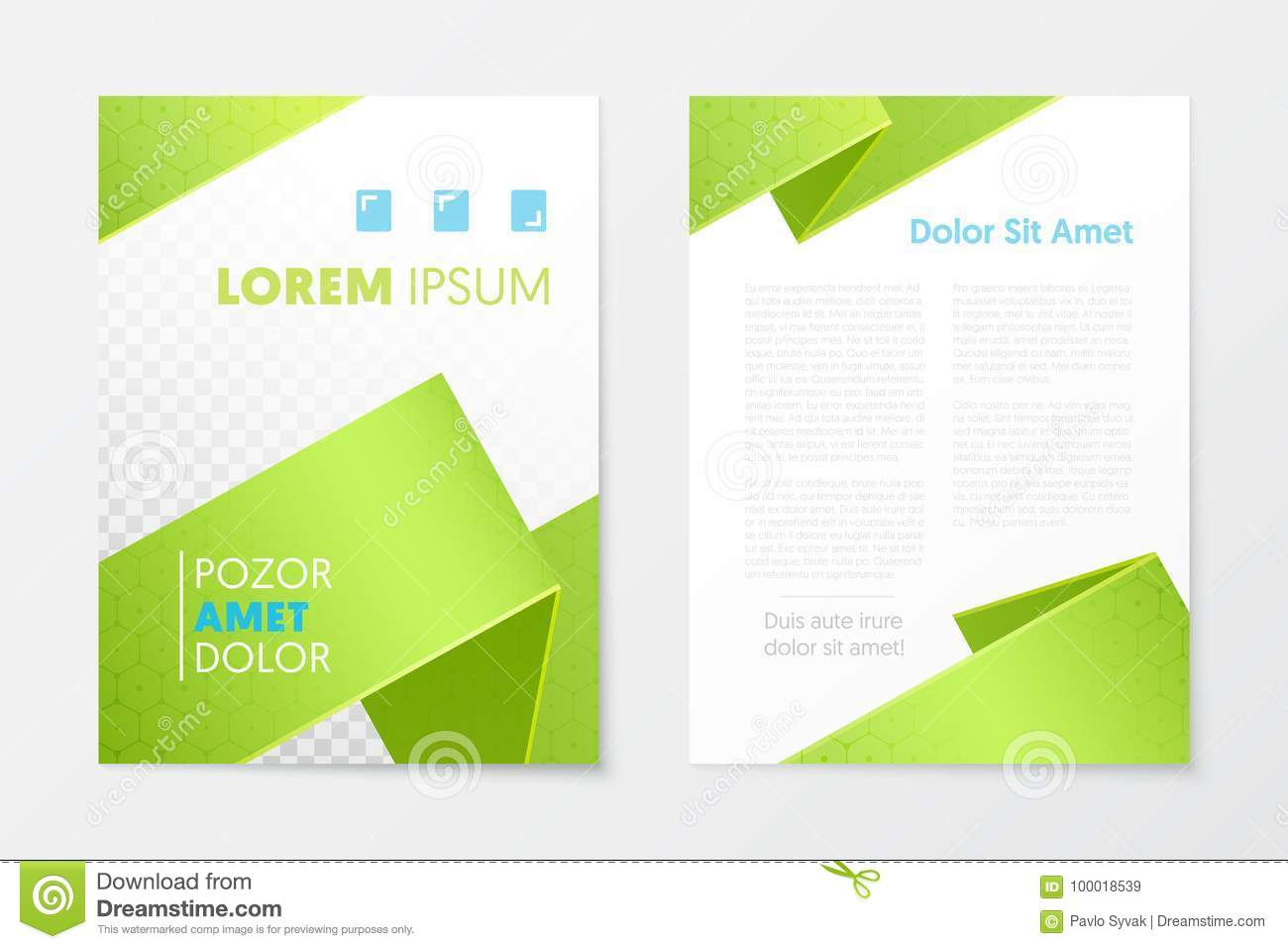 green annual report business brochure booklet leaflet cover flyer