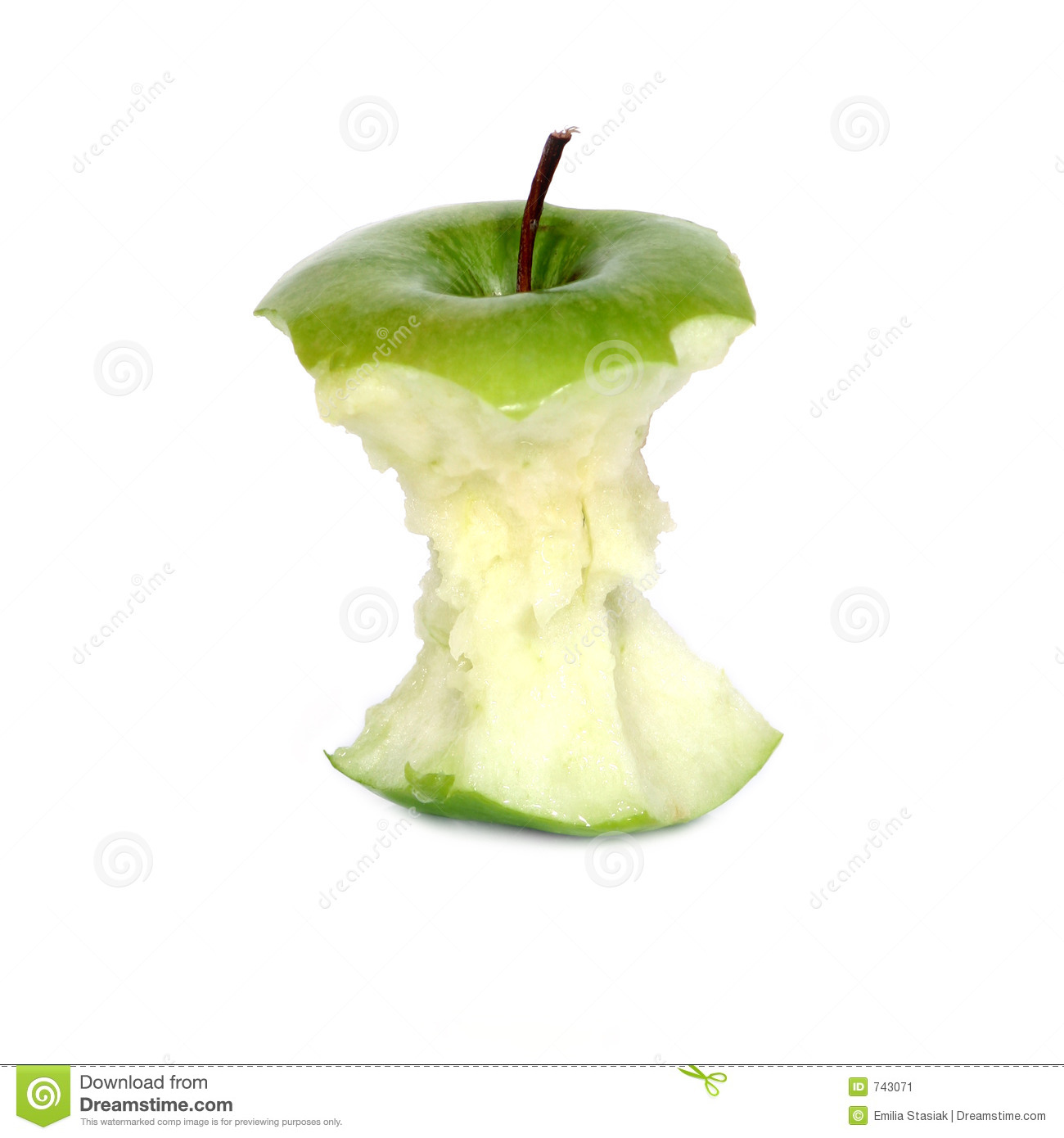 green apple core stock image image 743071 apple core clipart black and white Apple Core Coloring