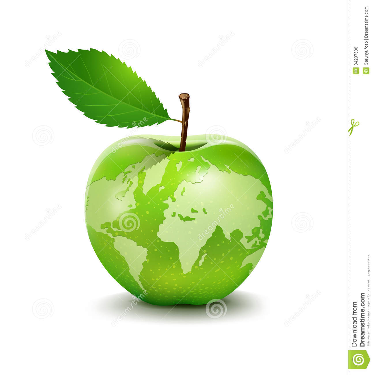 delicious green apple illustration - photo #41