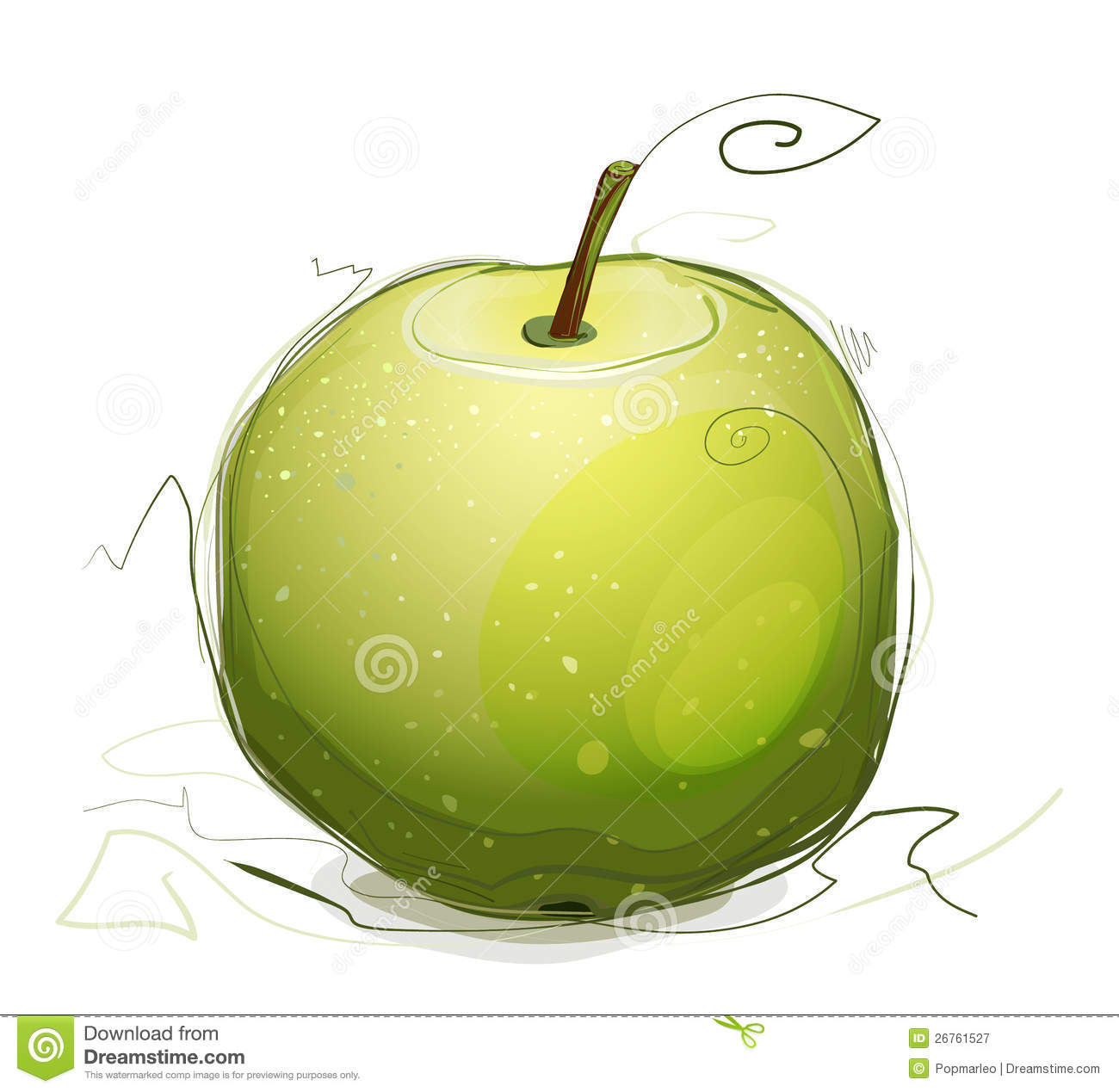 delicious green apple illustration - photo #6