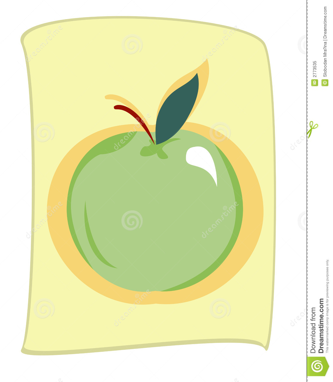 delicious green apple illustration - photo #48