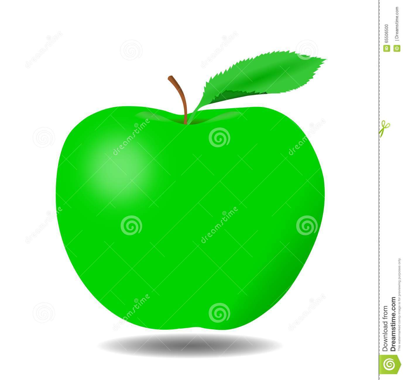 delicious green apple illustration-#48